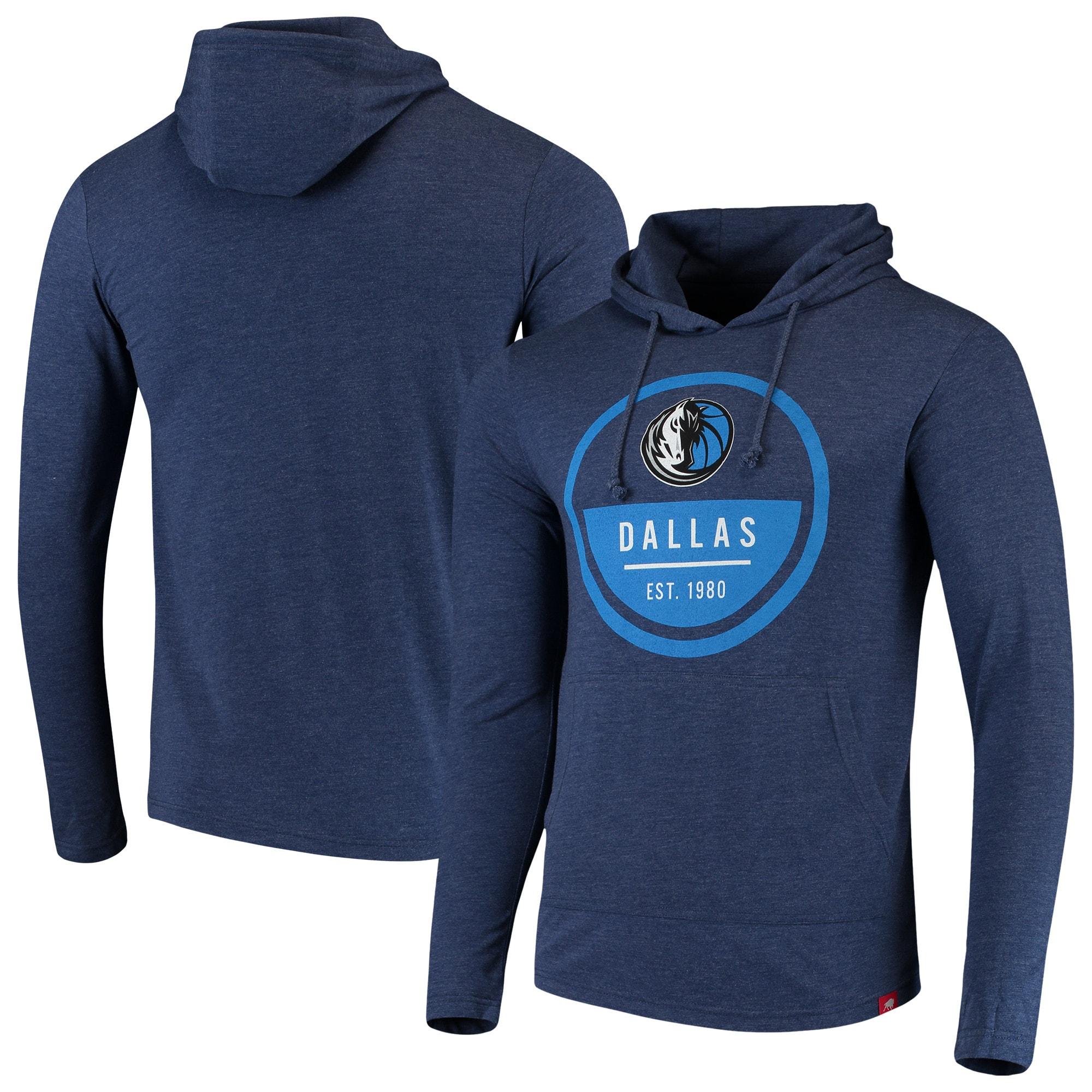 Dallas Mavericks Sportiqe Rowan Tri-Blend Jersey Hoodie - Heathered Navy