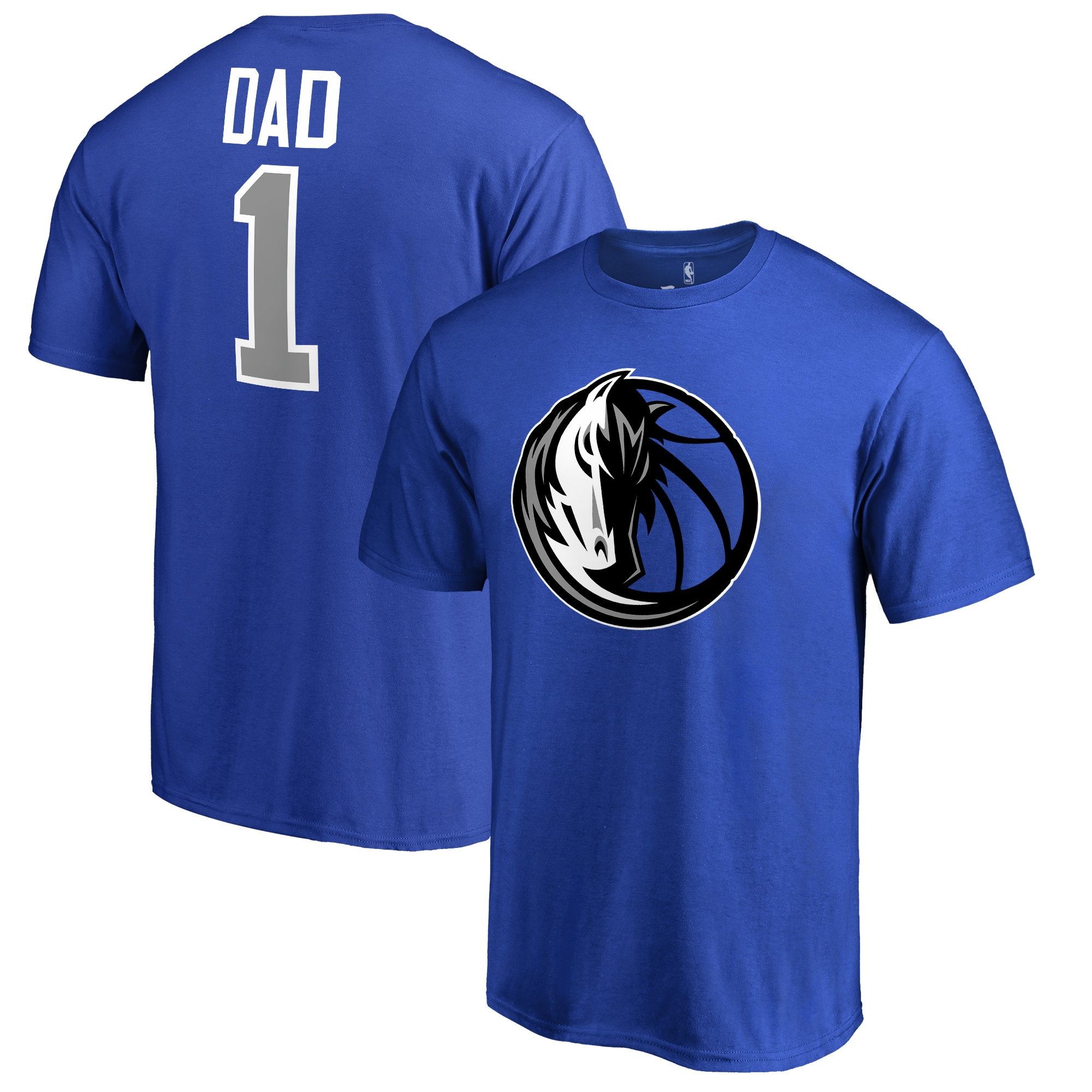 Dallas Mavericks #1 Dad T-Shirt - Royal
