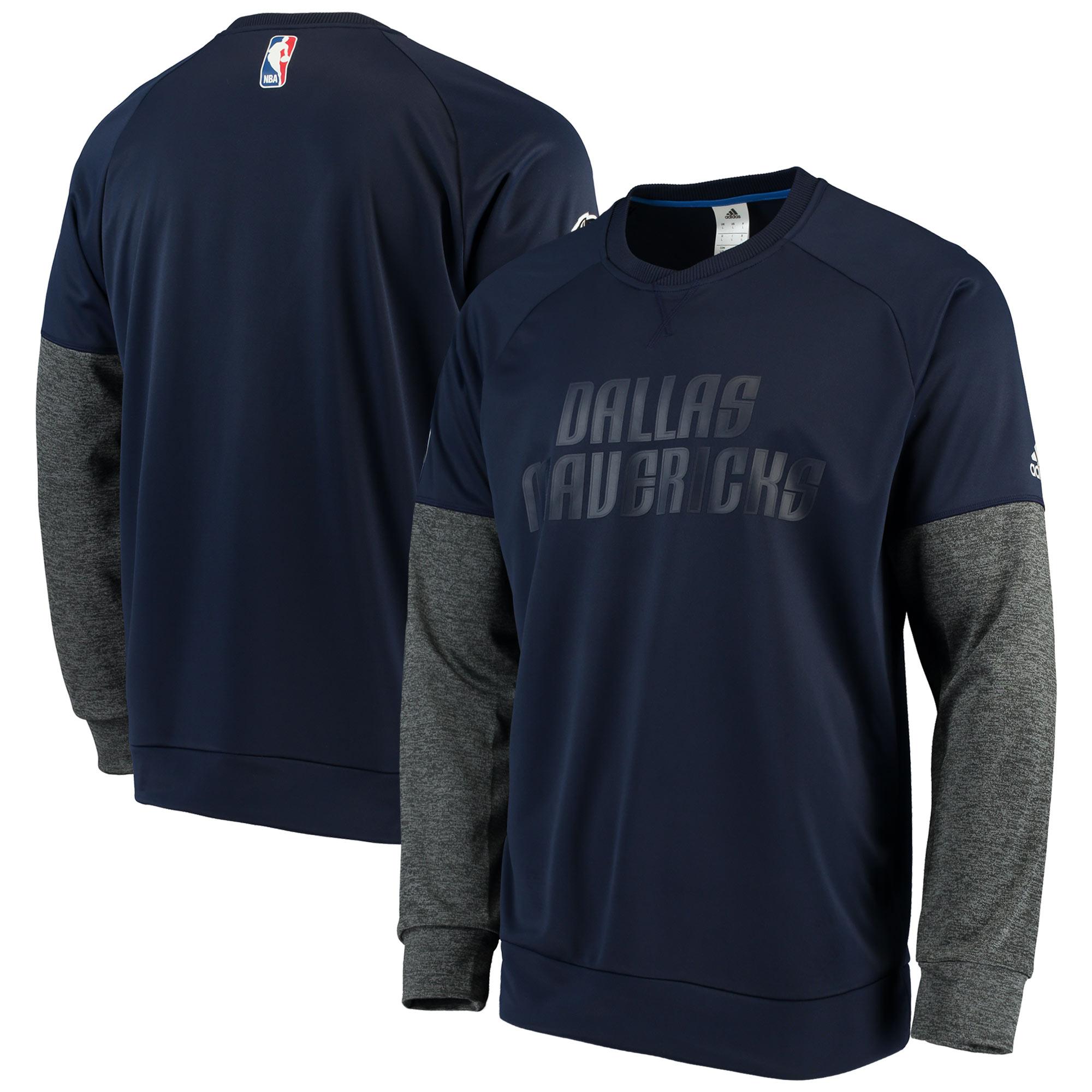 Dallas Mavericks adidas 2016 Christmas Day Second Half Pullover Sweatshirt - Navy