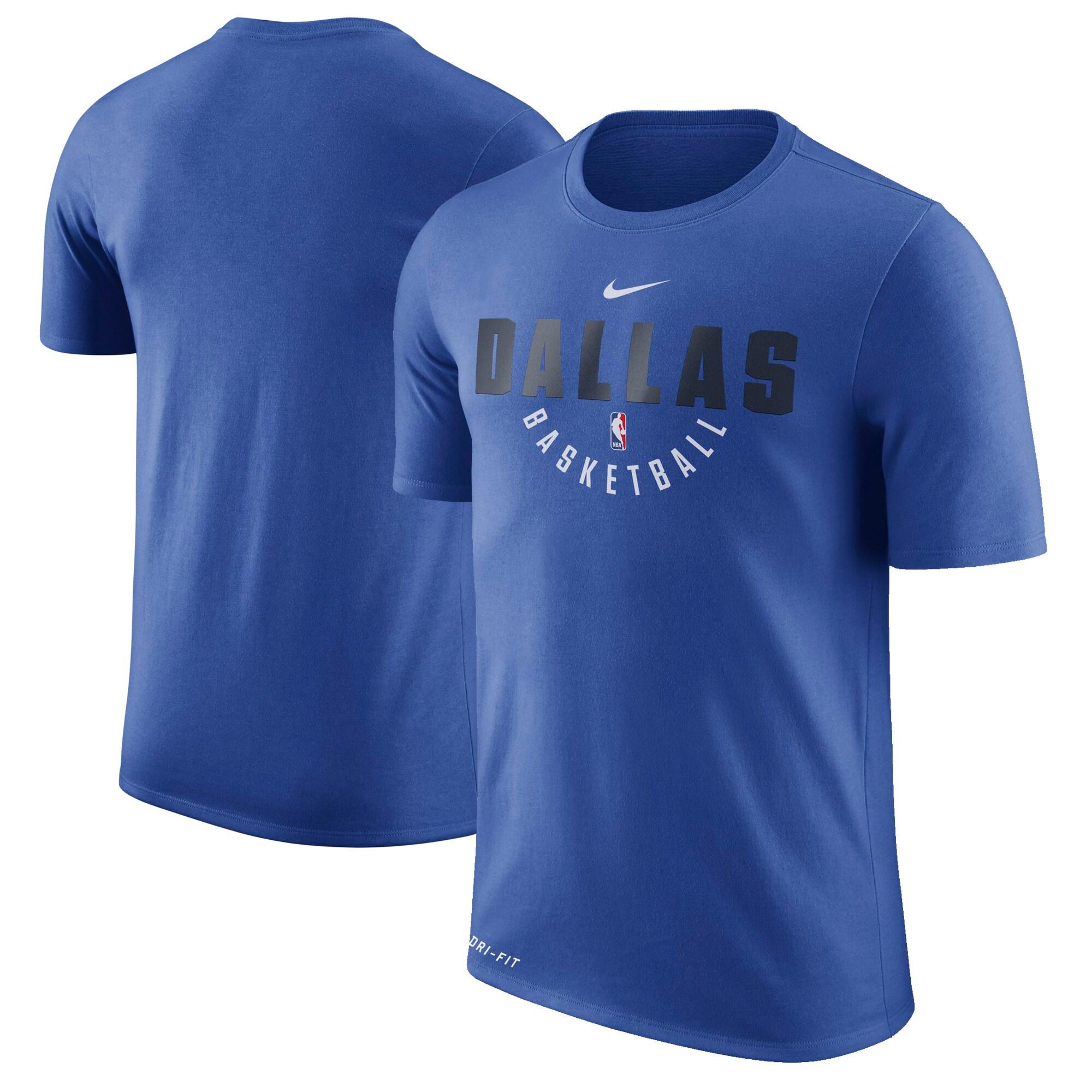 Dallas Mavericks Nike Practice Performance T-Shirt - Blue
