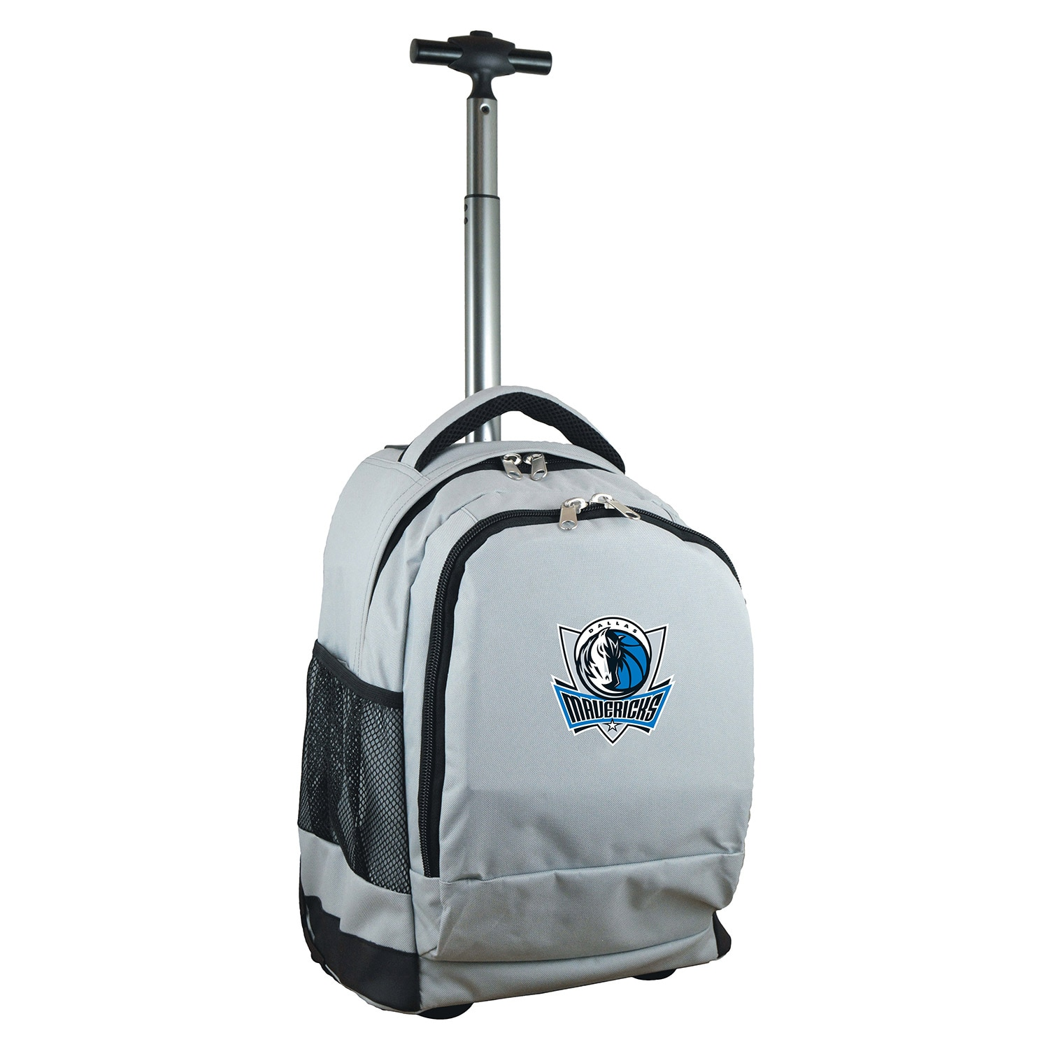 Dallas Mavericks 19'' Premium Wheeled Backpack - Gray