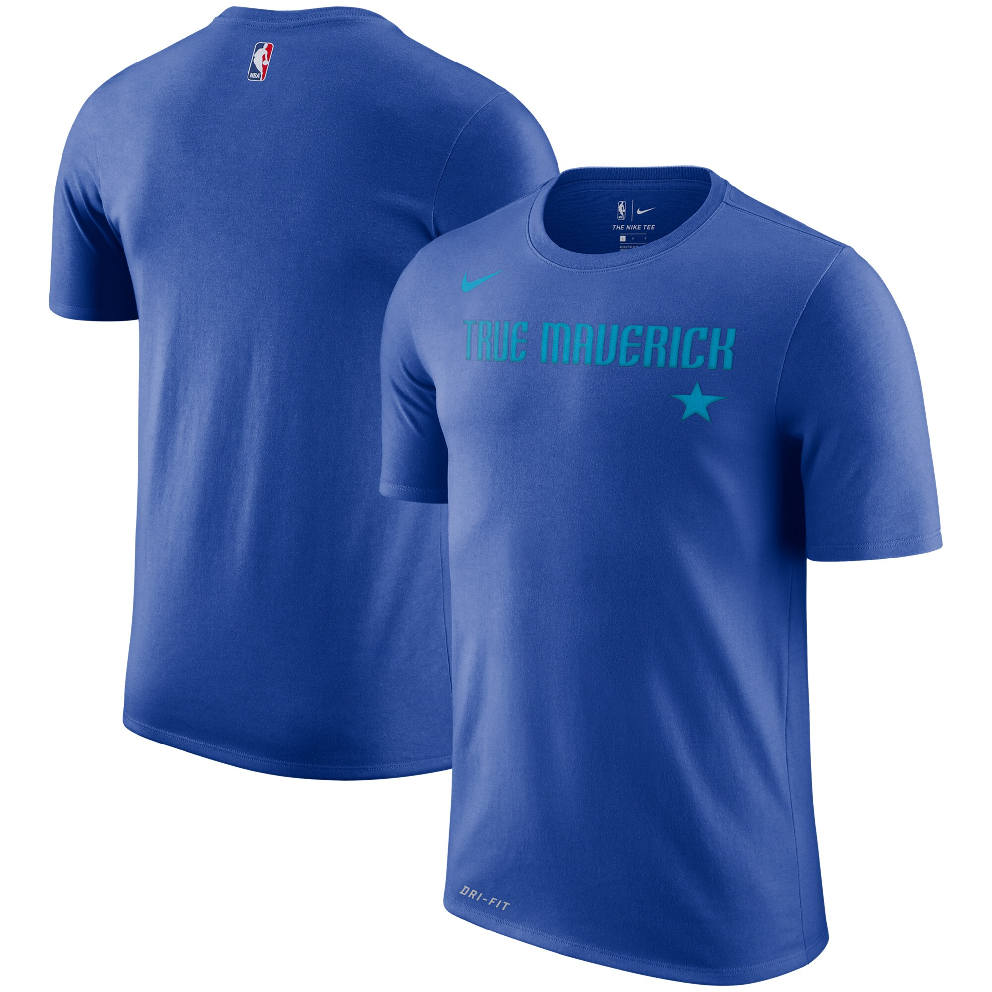 Dallas Mavericks Nike City Edition Performance Cotton Essential T-Shirt - Royal