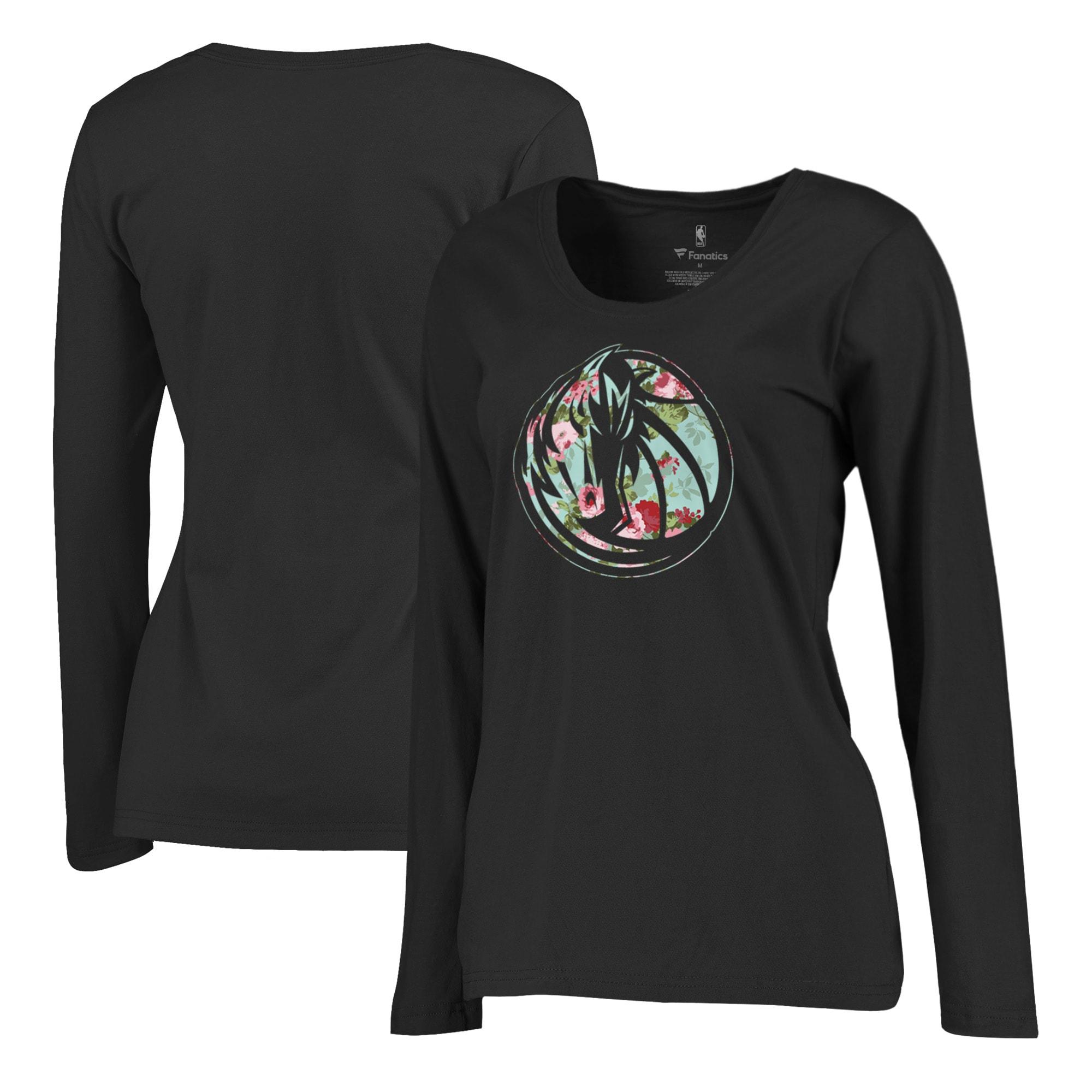 Dallas Mavericks Fanatics Branded Women's Lovely Plus Size Long Sleeve T-Shirt - Black