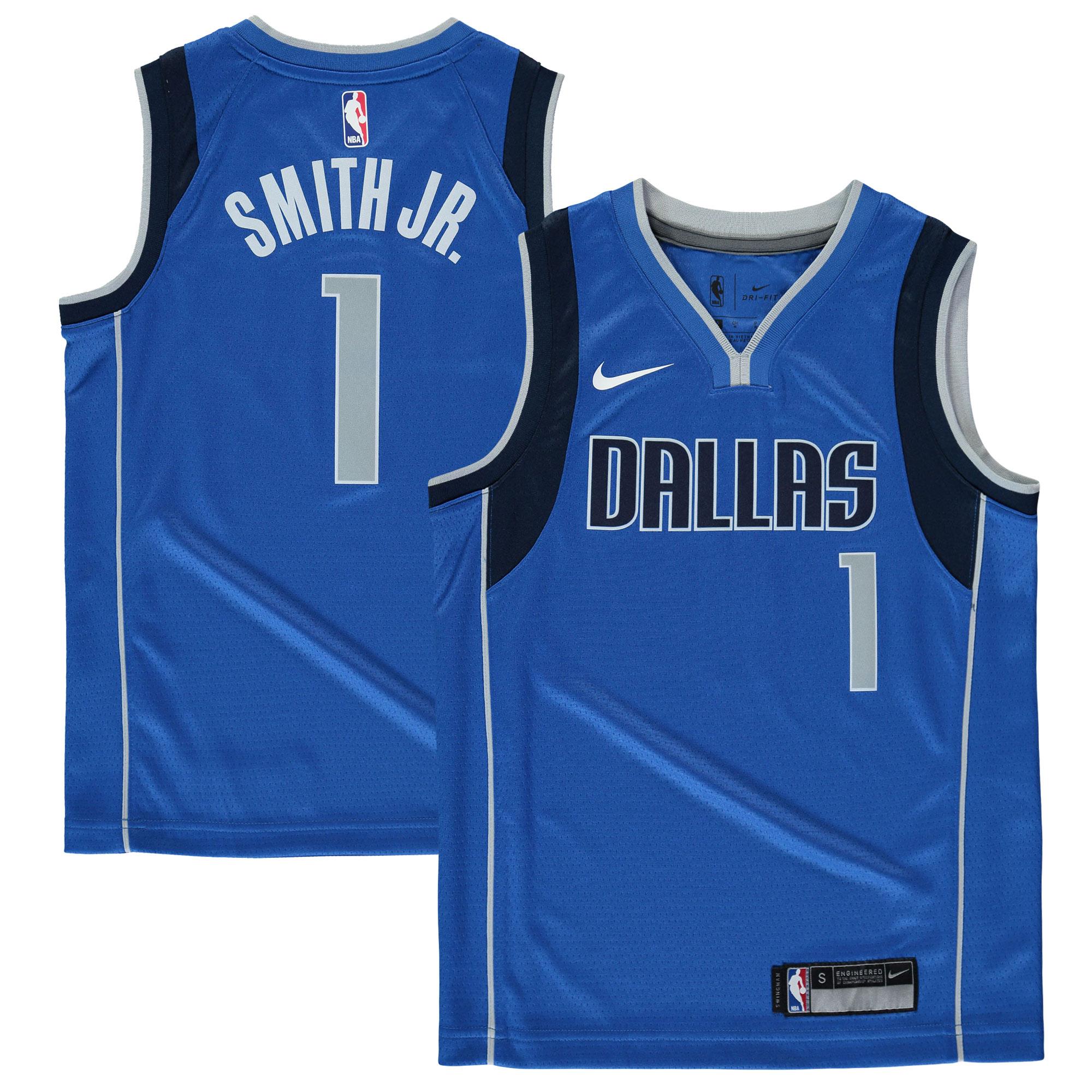Dennis Smith Dallas Mavericks Nike Youth Swingman Jersey Blue - Icon Edition