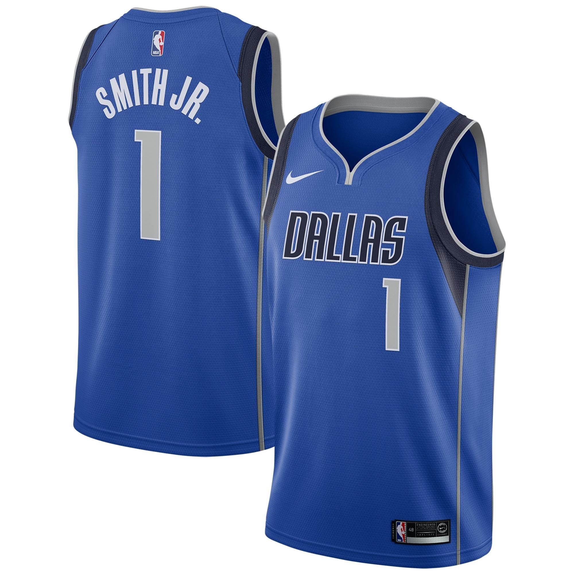 Dennis Smith Dallas Mavericks Nike Swingman Jersey Blue - Icon Edition