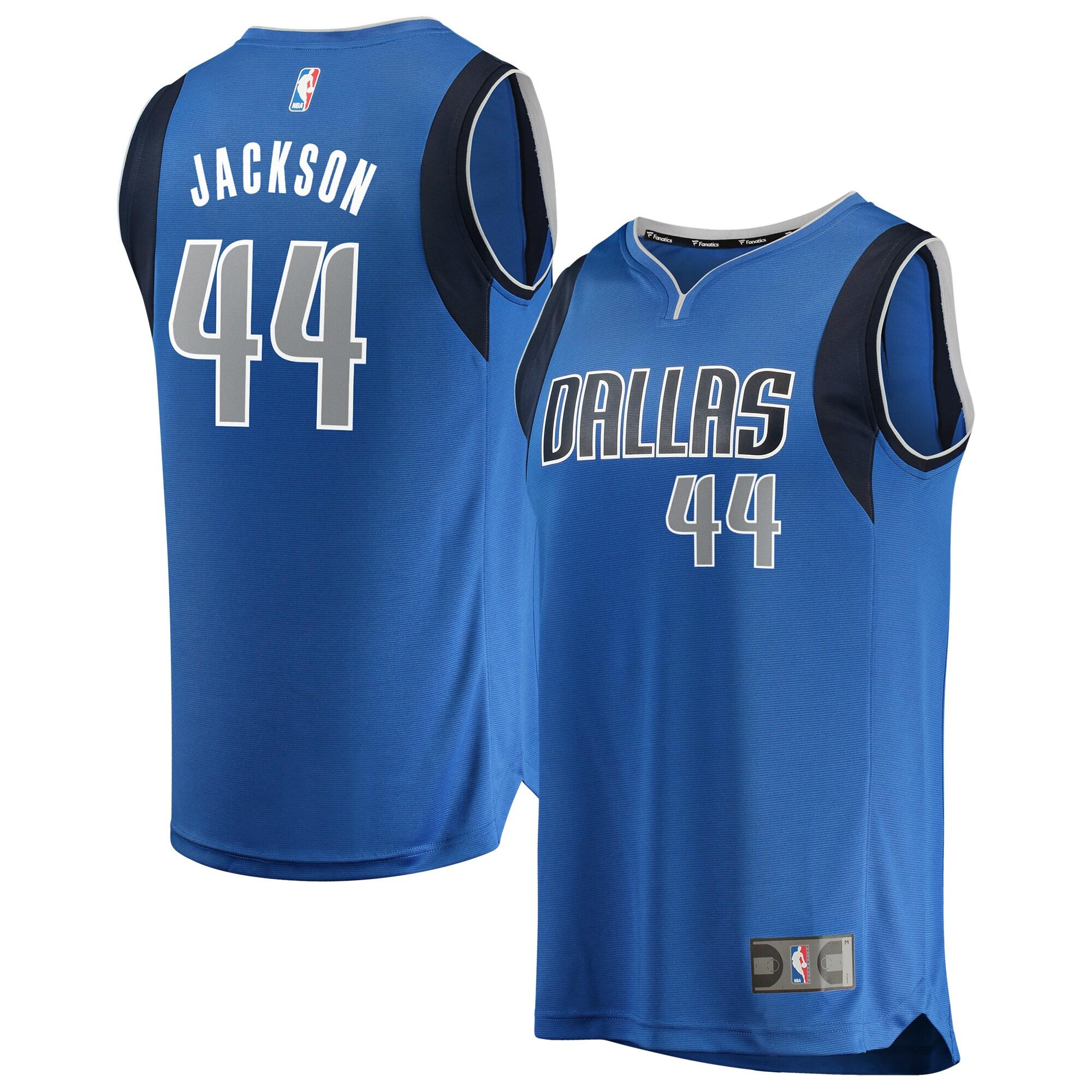 Justin Jackson Dallas Mavericks Fanatics Branded Fast Break Replica Jersey - Icon Edition - Blue