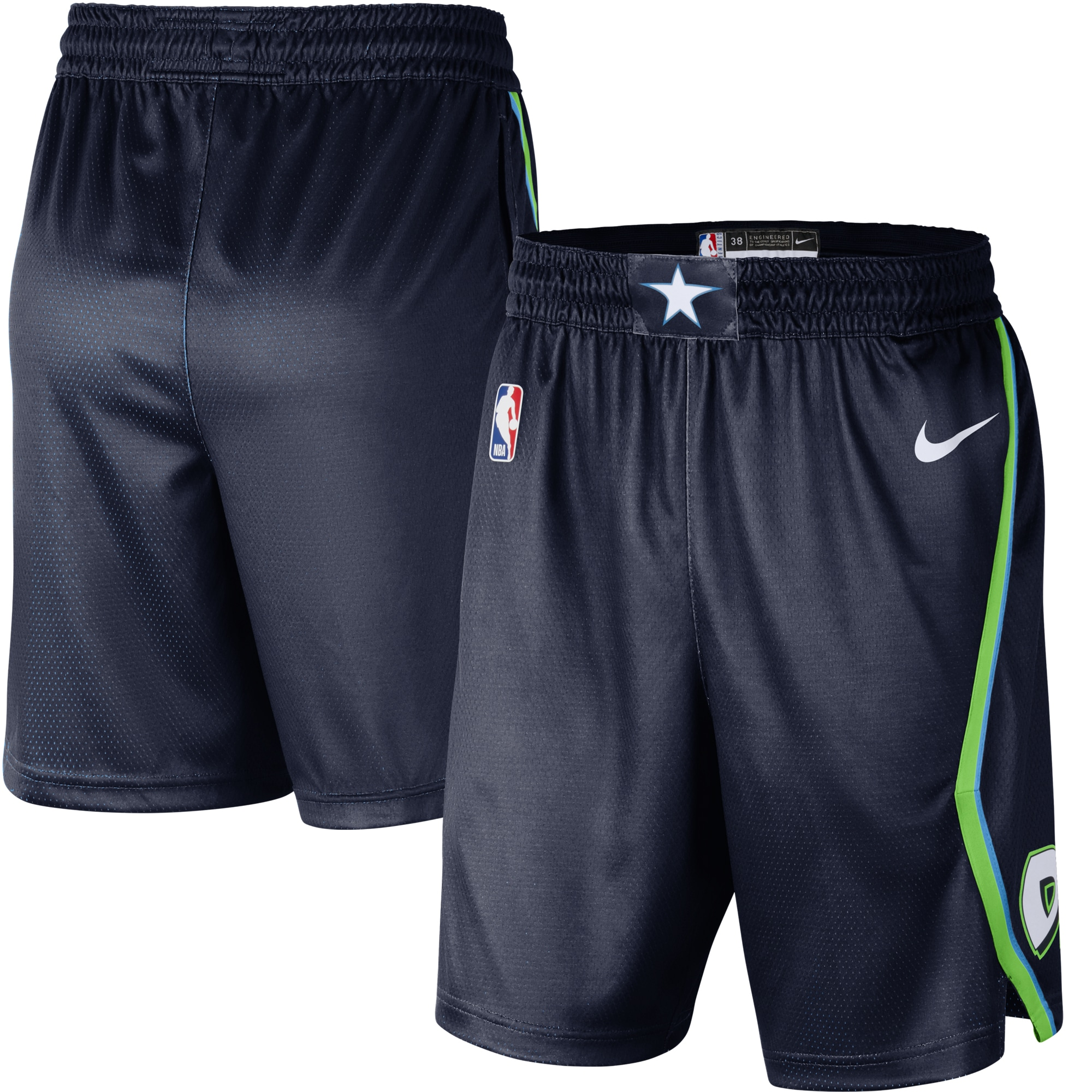 Dallas Mavericks Nike 2019/20 City Edition Swingman Shorts - Navy