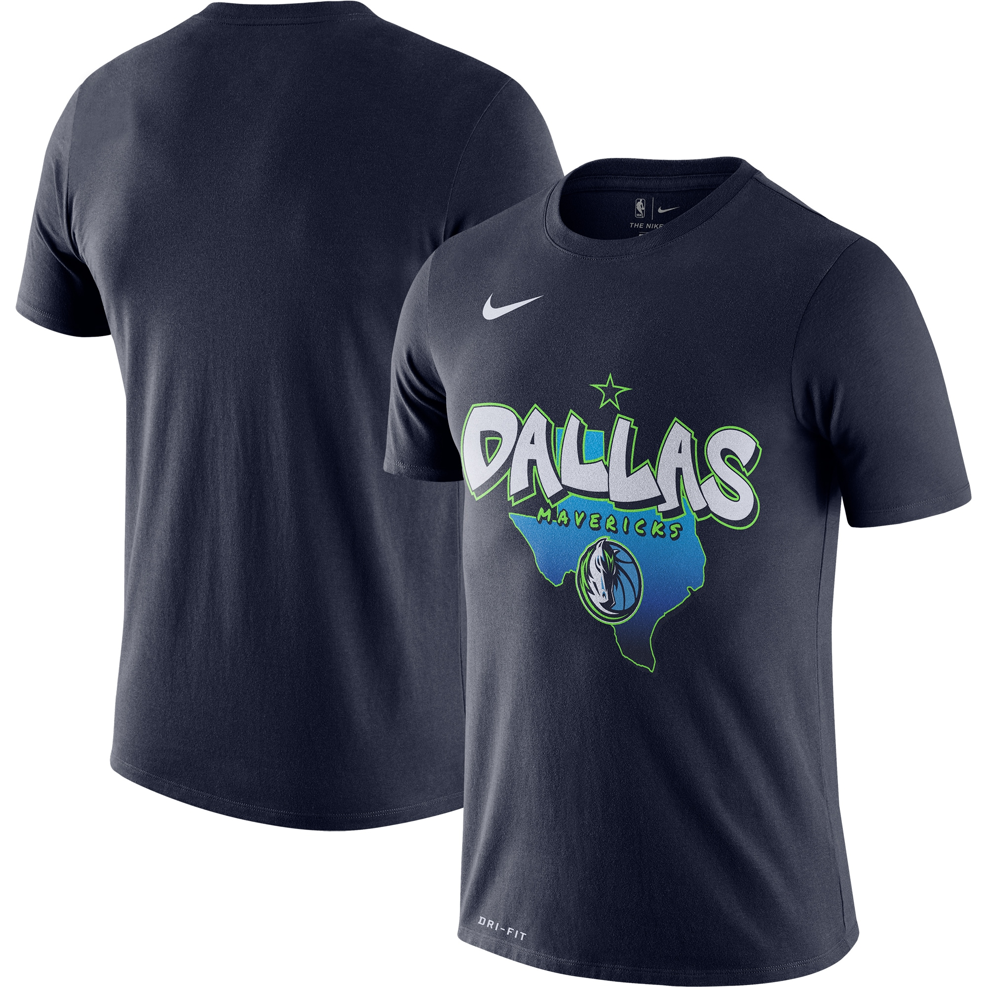 Dallas Mavericks Nike 2019/20 City Edition Hometown Performance T-Shirt - Navy