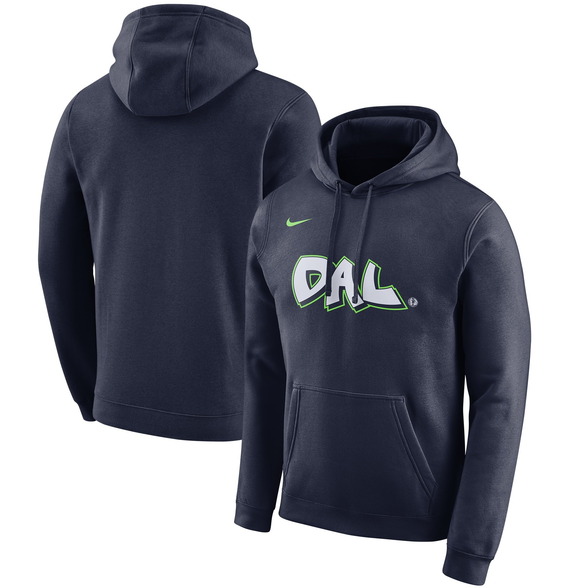 Dallas Mavericks Nike 2019/20 City Edition Club Pullover Hoodie - Navy