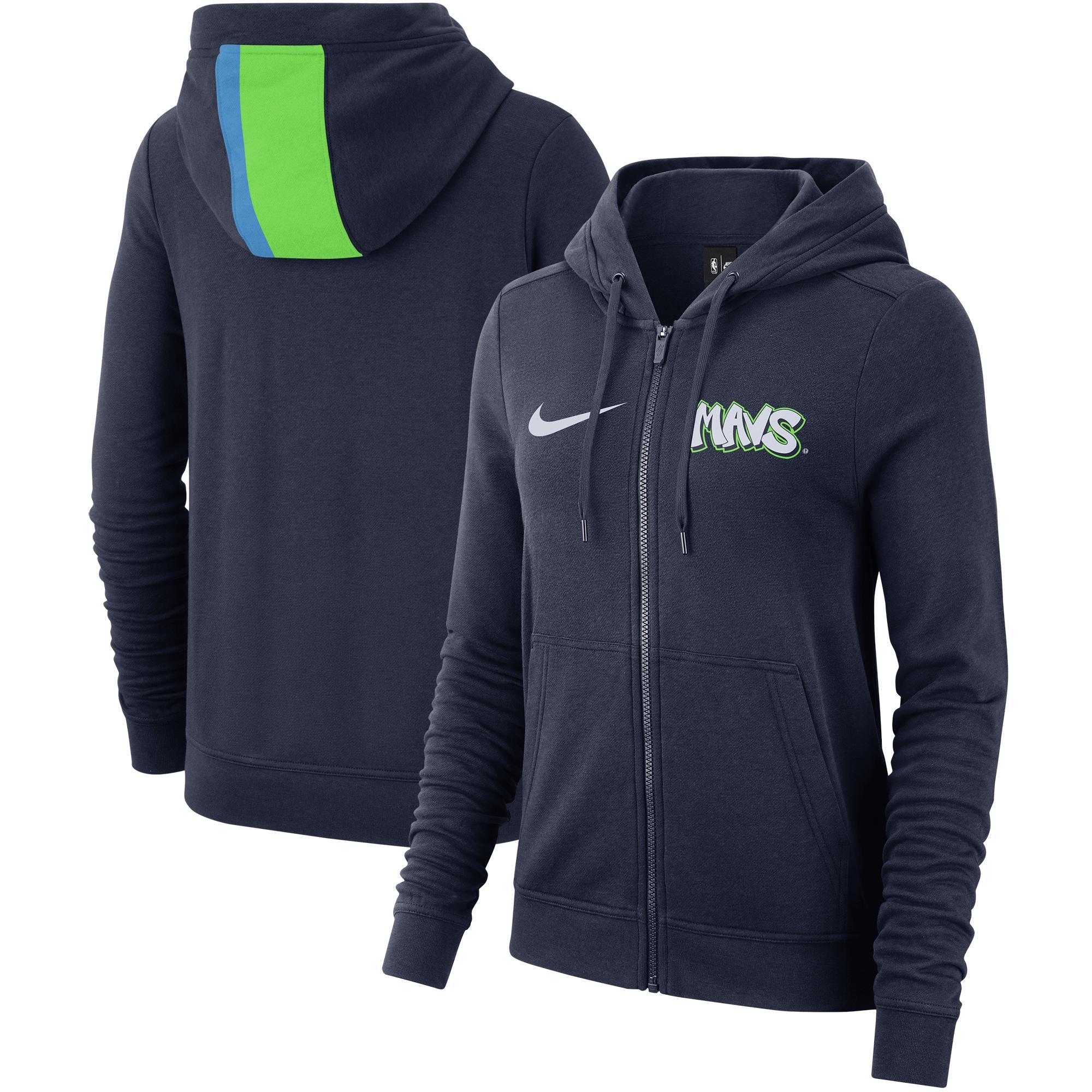 Dallas Mavericks Nike Women's 2019/20 City Edition Full-Zip Hoodie - Navy