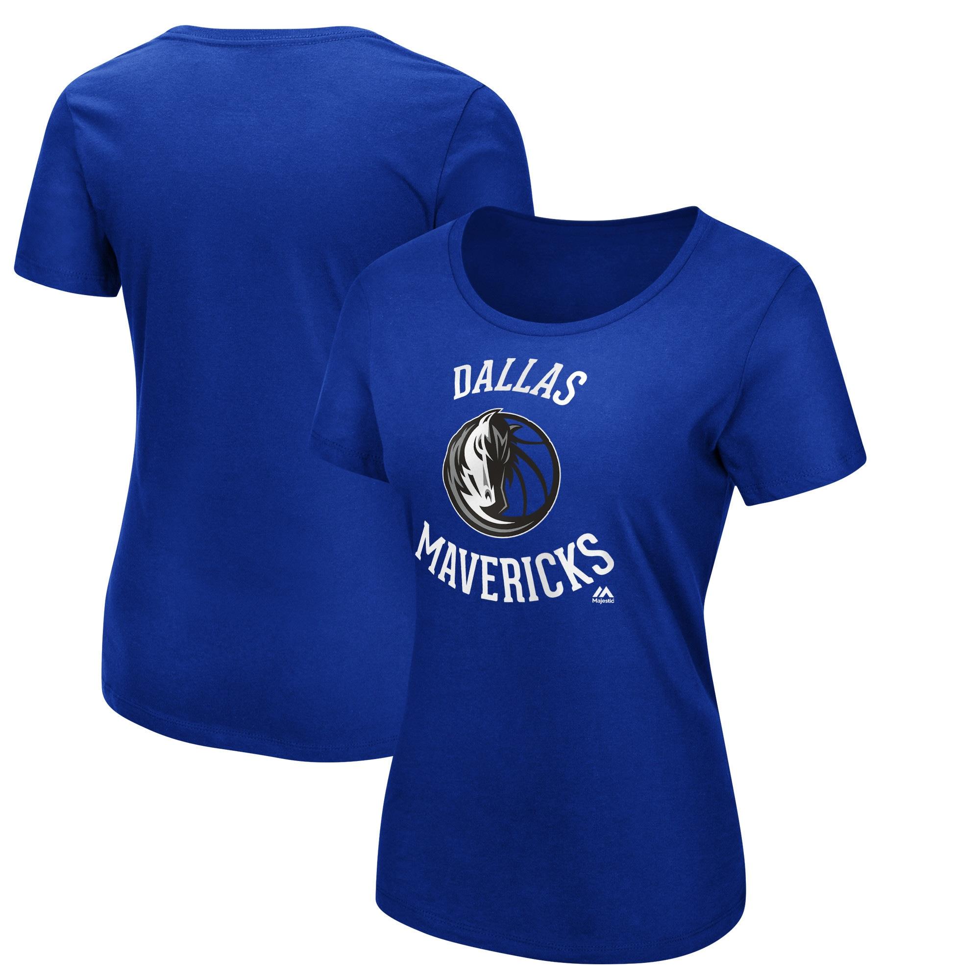 Dallas Mavericks Majestic Women's The Main Thing T-Shirt - Blue