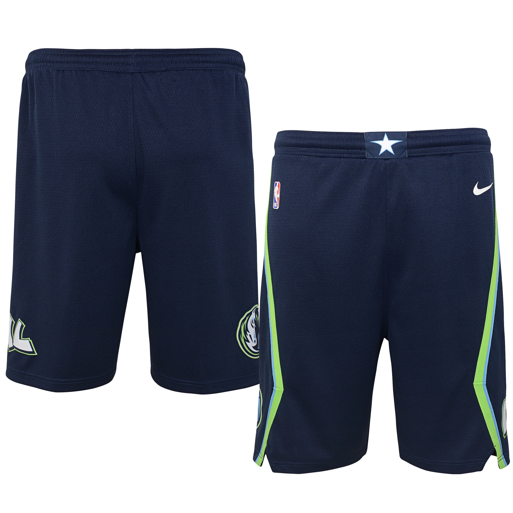 Dallas Mavericks Nike Youth 2019/20 City Edition Swingman Shorts - Blue