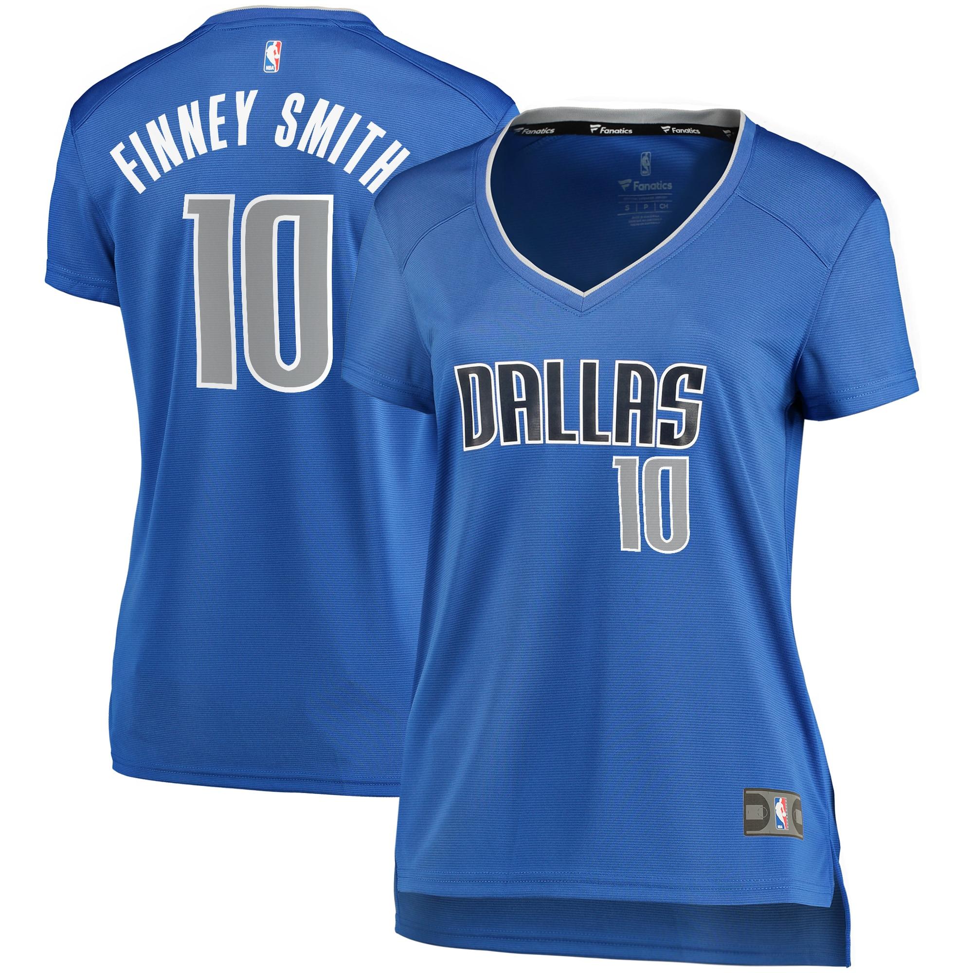 Dorian Finney-Smith Dallas Mavericks Fanatics Branded Women's Fast Break Replica Player Jersey Blue - Icon Edition