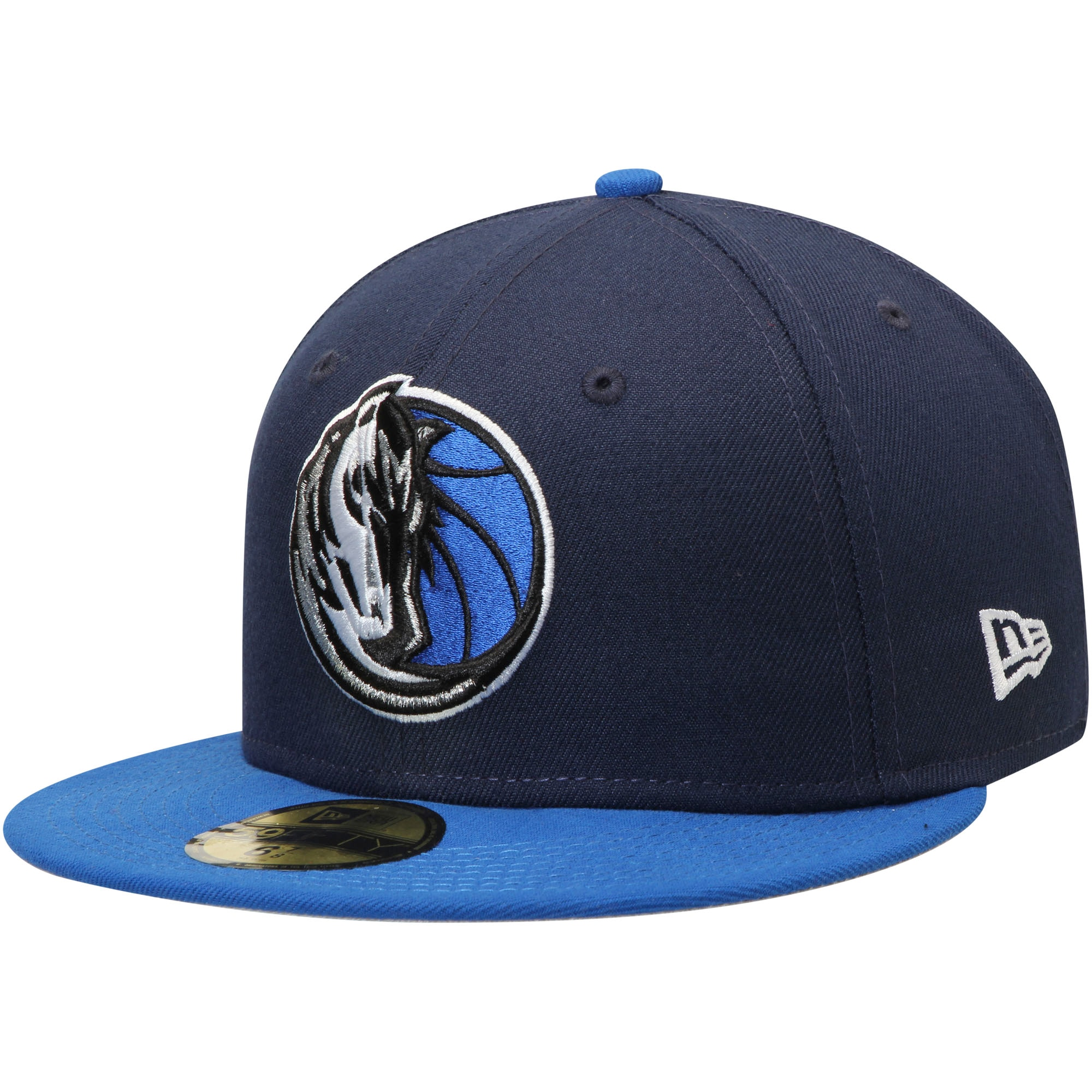 Dallas Mavericks New Era Official Team Color 2Tone 59FIFTY Fitted Hat - Navy/Blue
