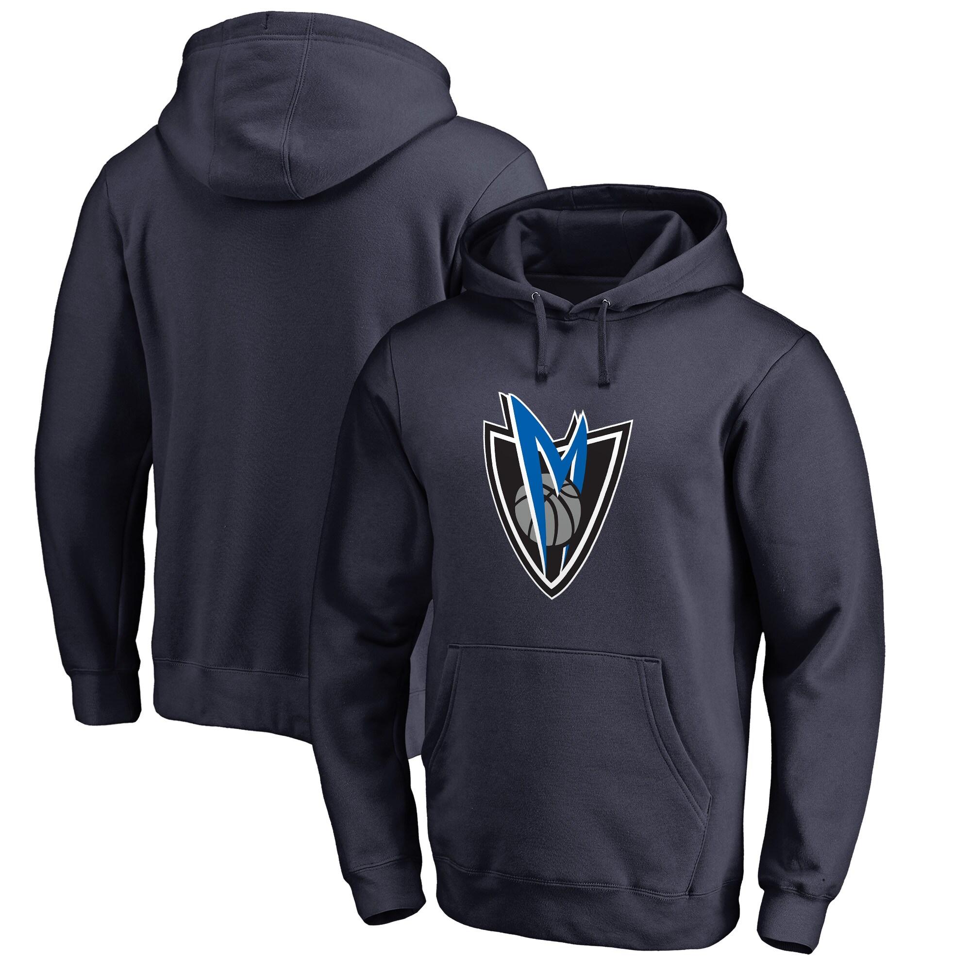 Dallas Mavericks Fanatics Branded Alternate Logo Pullover Hoodie - Navy