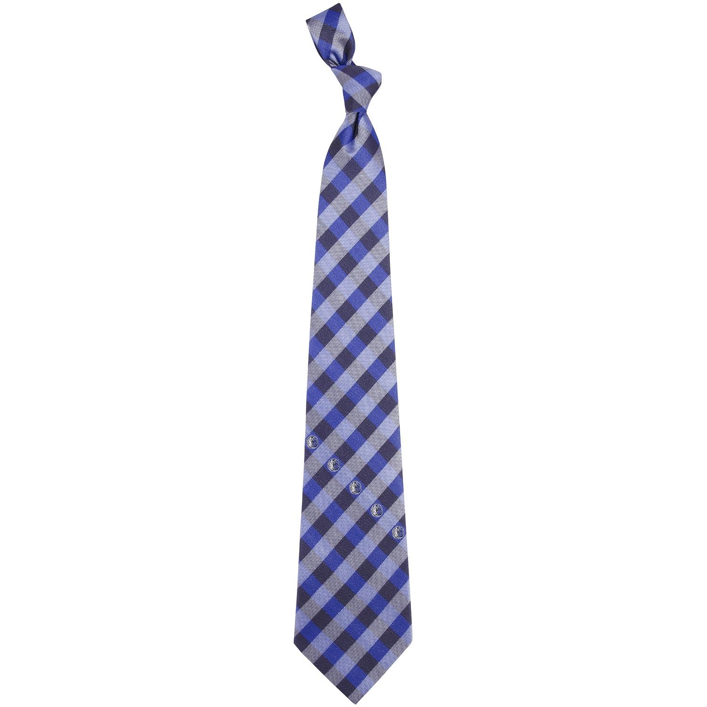 Dallas Mavericks Woven Checkered Tie - Navy Blue/Royal Blue