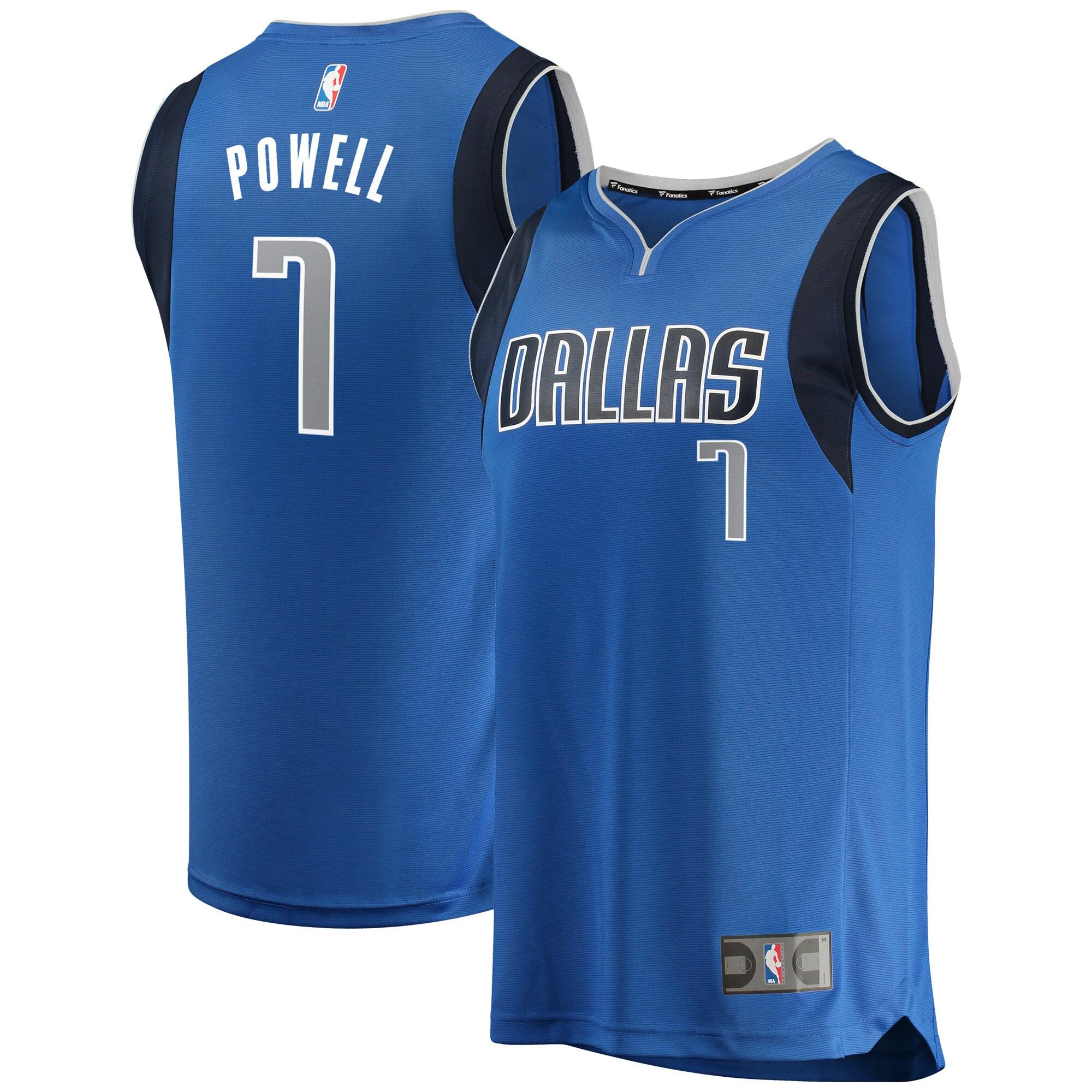 Dwight Powell Dallas Mavericks Fanatics Branded Fast Break Replica Team Color Player Jersey Royal - Icon Edition