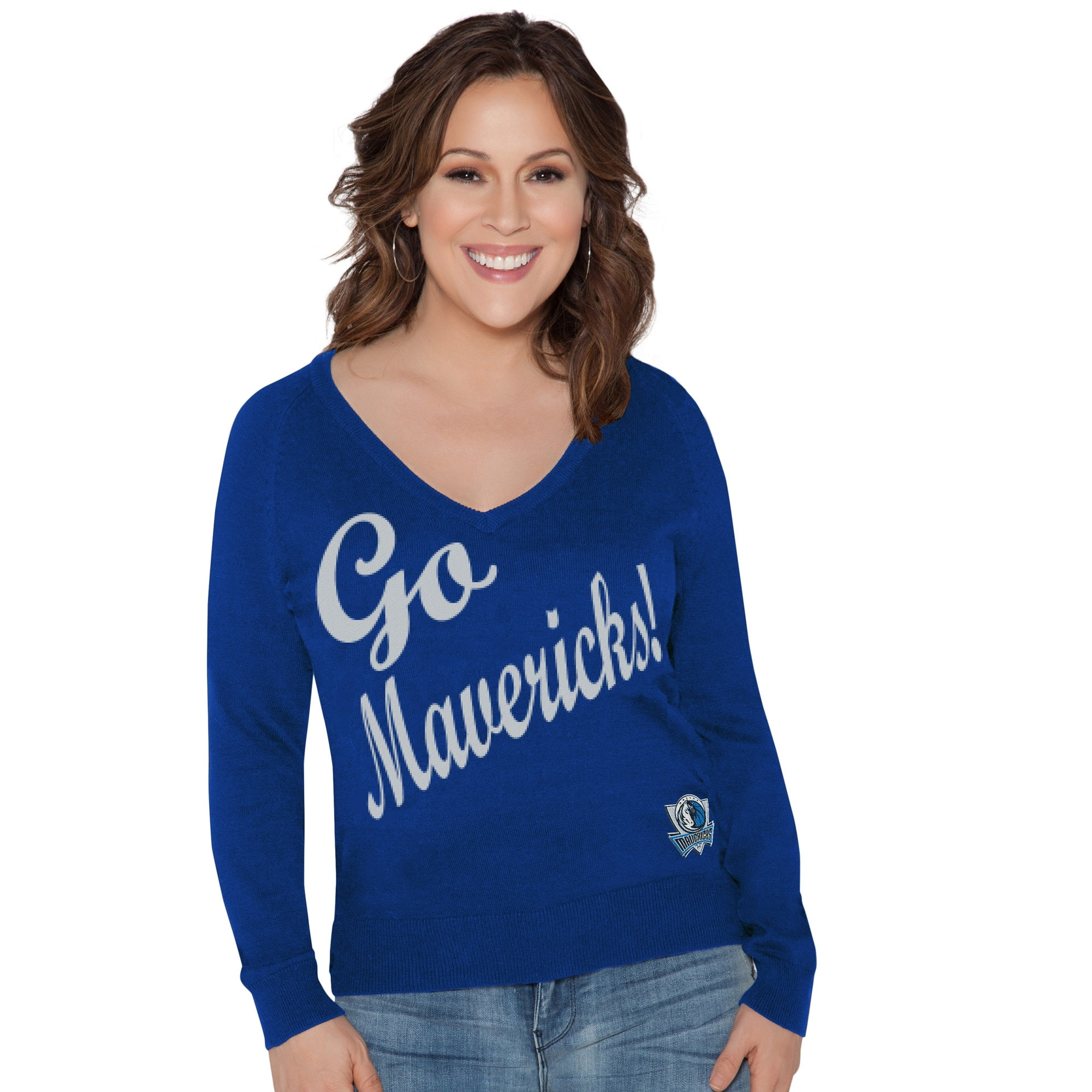 Dallas Mavericks Touch by Alyssa Milano Women's MVP Sweater - Blue