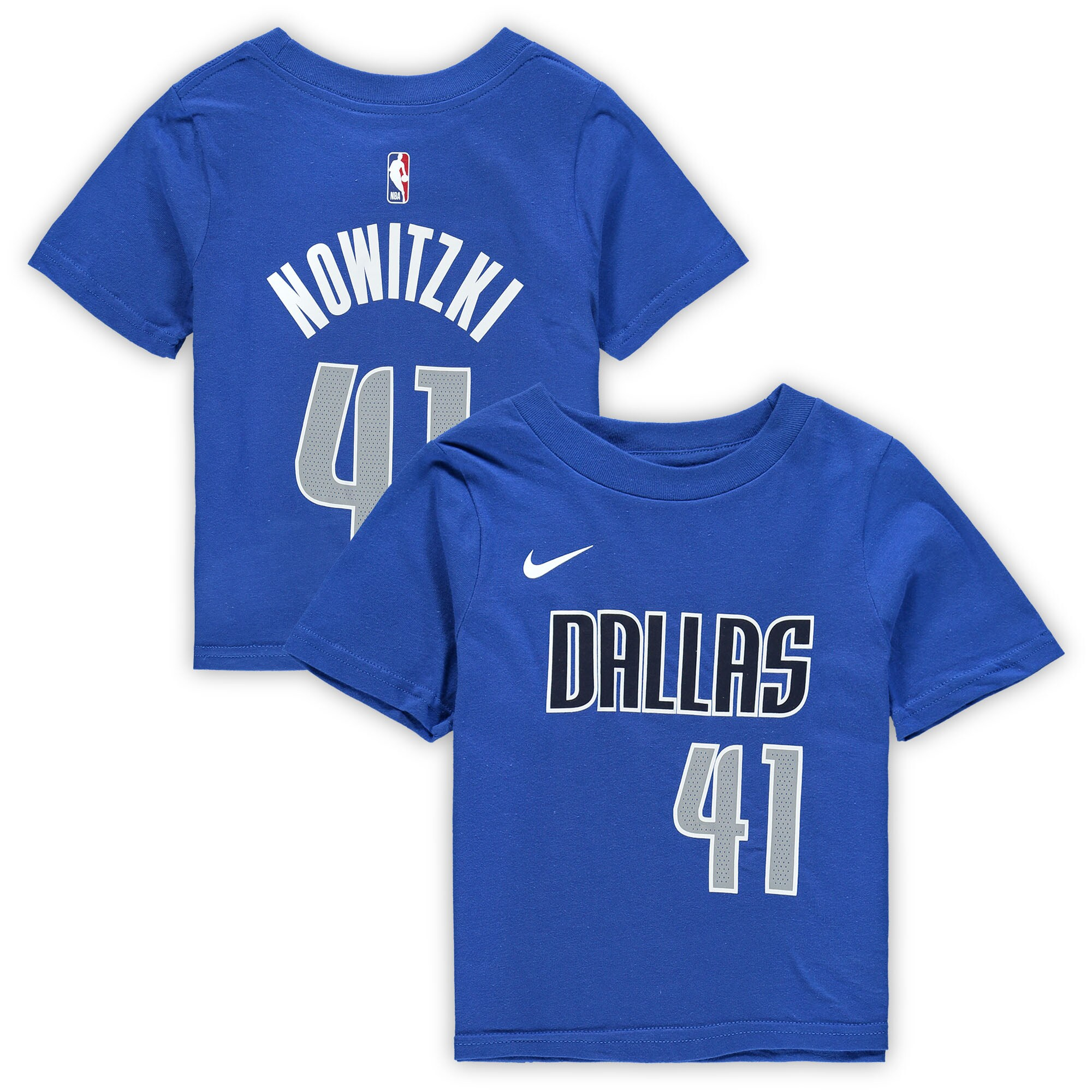 Dirk Nowitzki Dallas Mavericks Nike Toddler Name & Number T-Shirt - Blue
