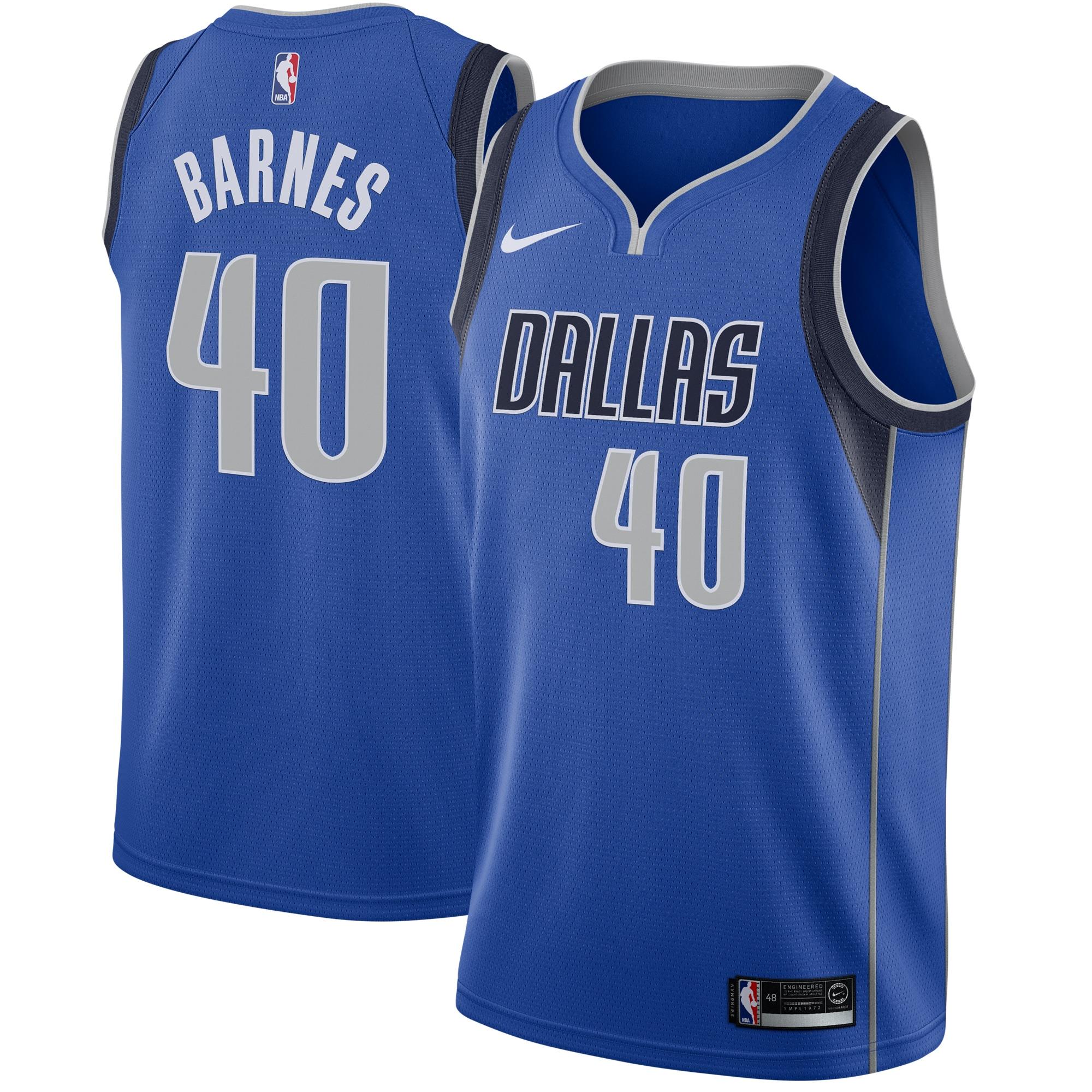 Harrison Barnes Dallas Mavericks Nike Swingman Jersey Royal - Icon Edition