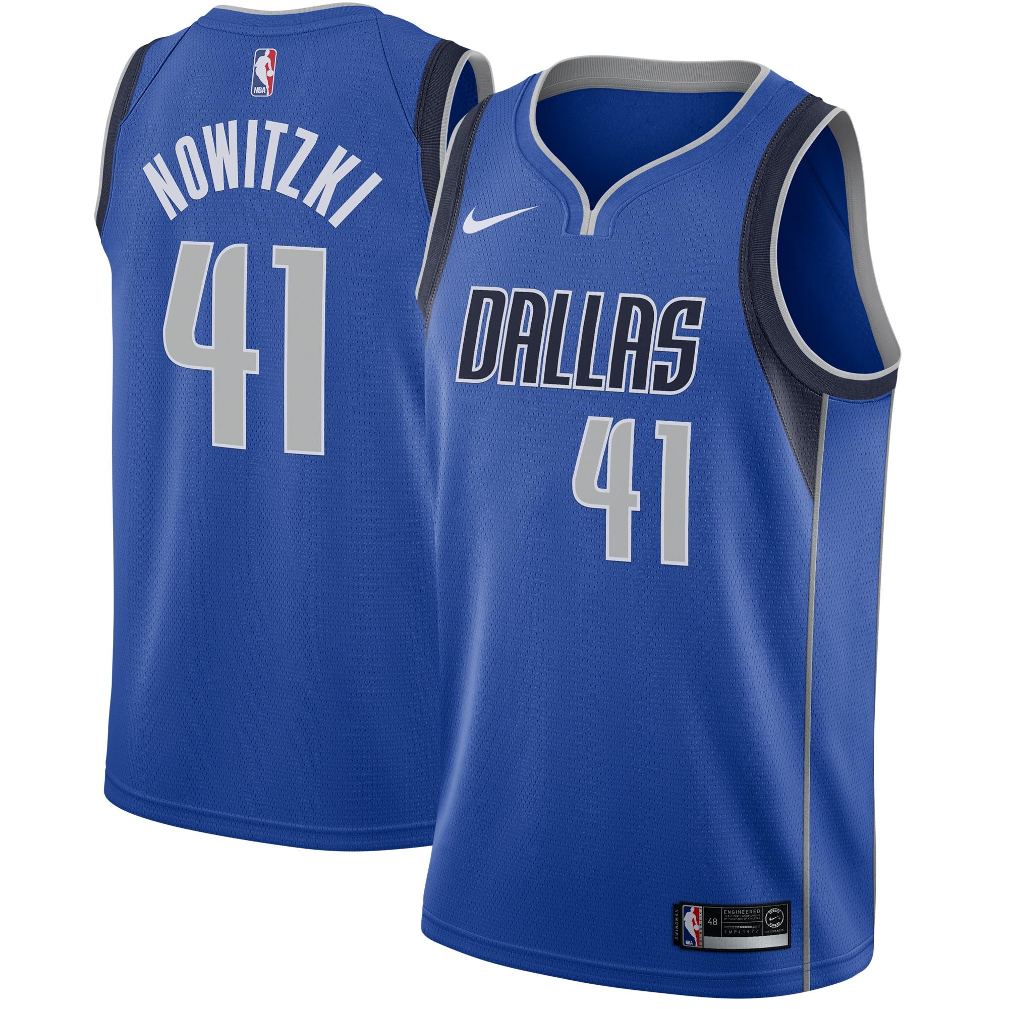 Dirk Nowitzki Dallas Mavericks Nike Swingman Jersey Royal - Icon Edition