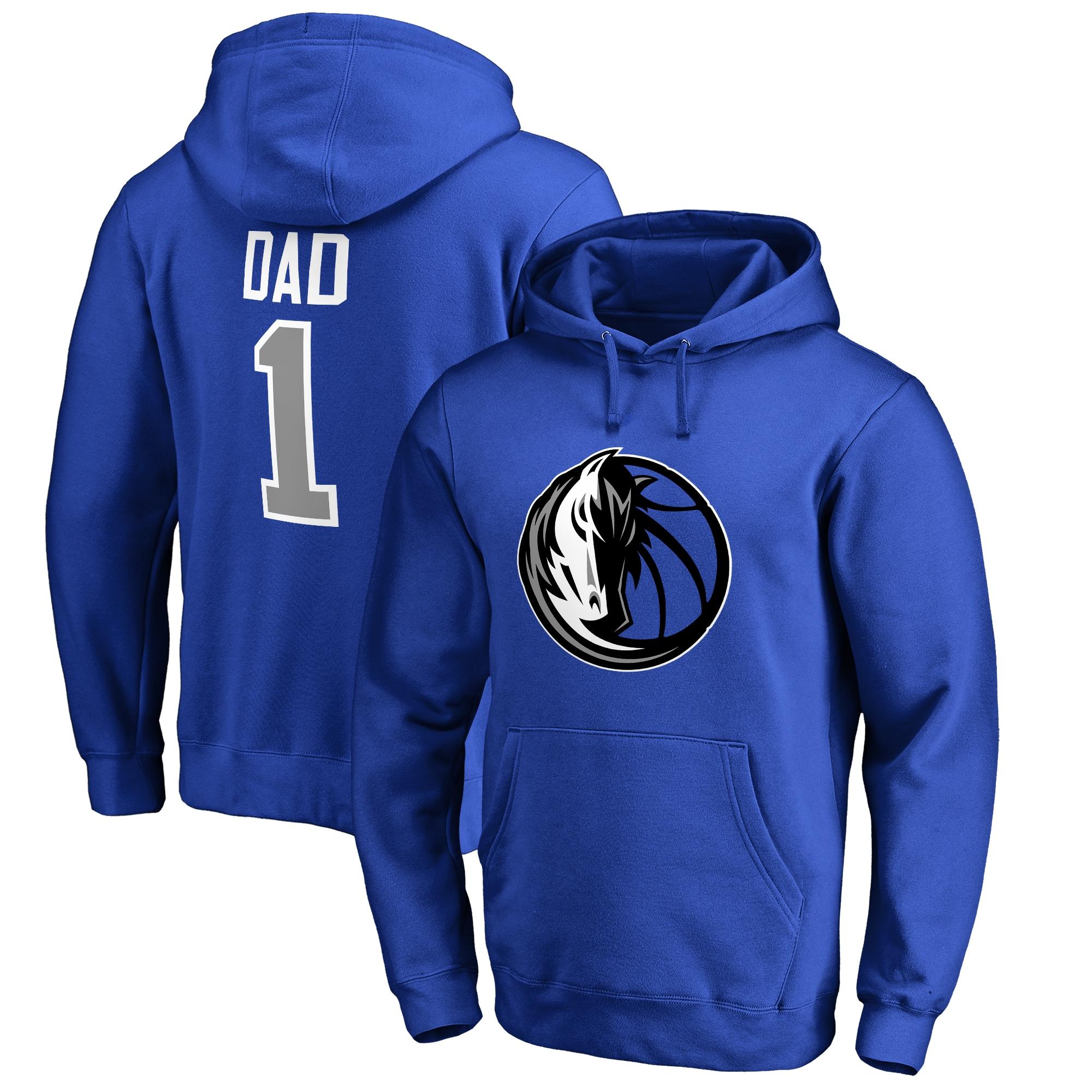 Dallas Mavericks Fanatics Branded Big & Tall #1 Dad Pullover Hoodie - Royal