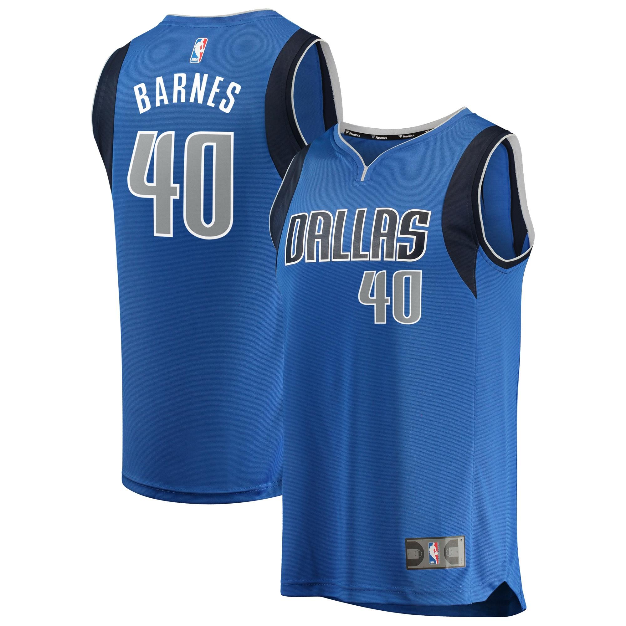 Harrison Barnes Dallas Mavericks Fanatics Branded Fast Break Replica Jersey Blue - Icon Edition