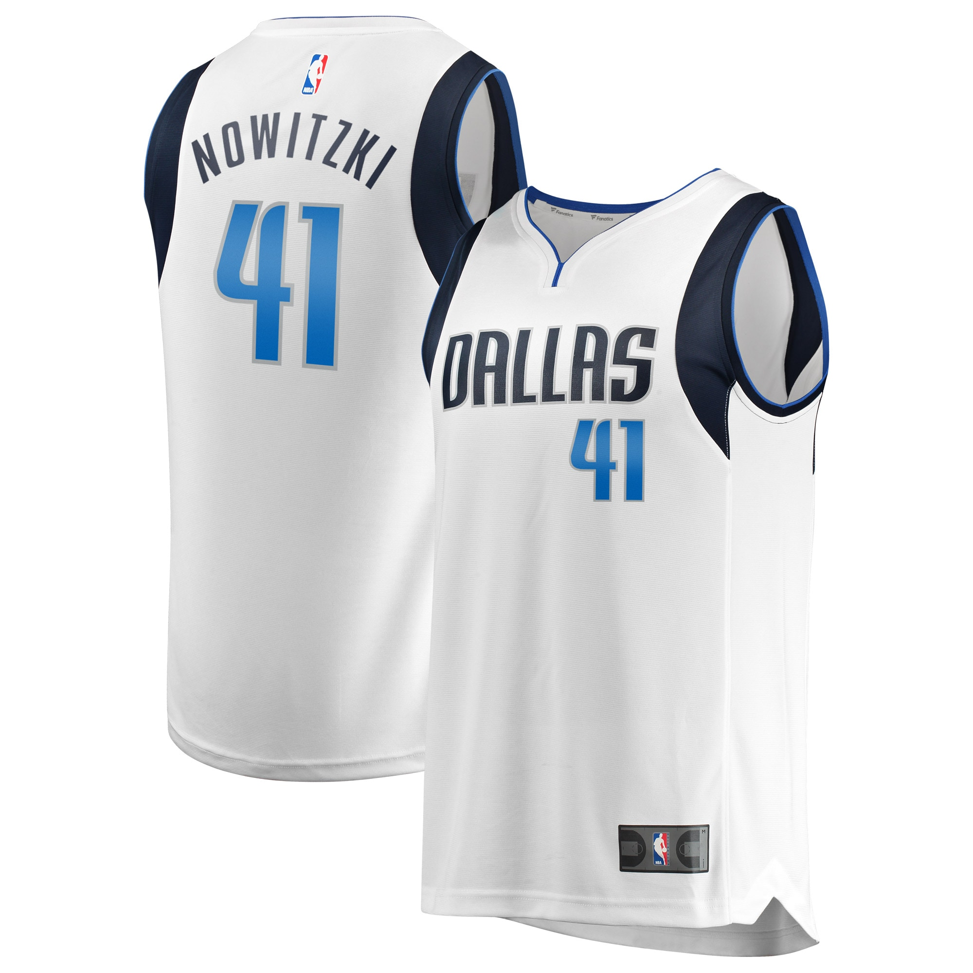 Dirk Nowitzki Dallas Mavericks Fanatics Branded Fast Break Replica Jersey White - Association Edition