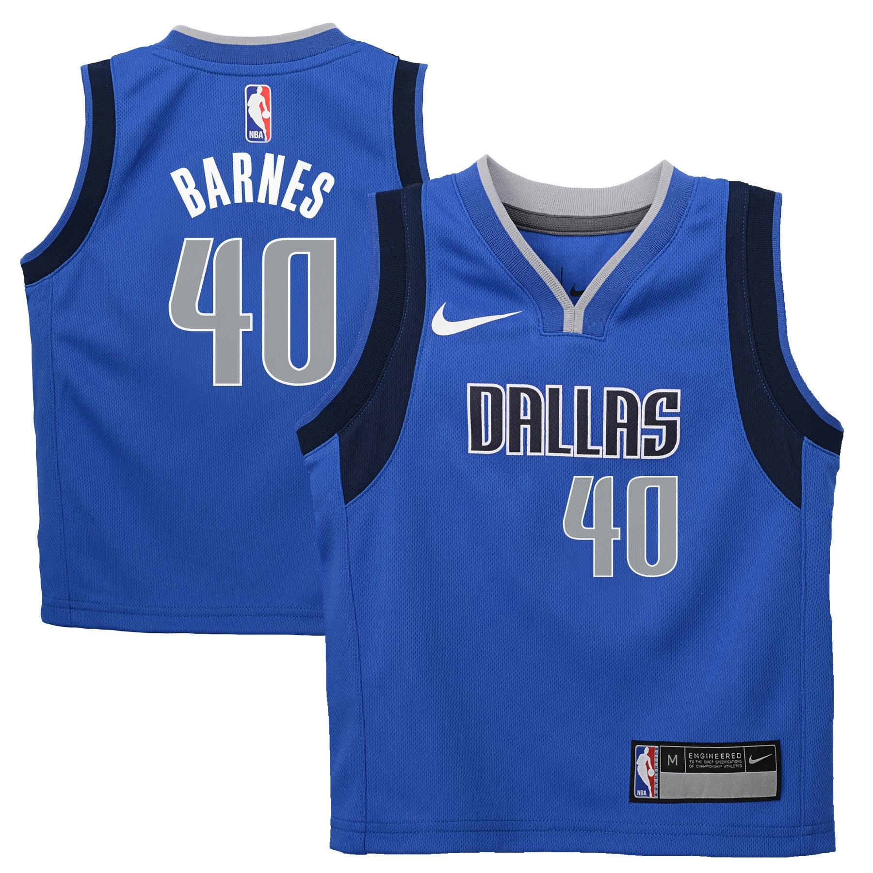 Harrison Barnes Dallas Mavericks Nike Preschool Replica Jersey Royal - Icon Edition