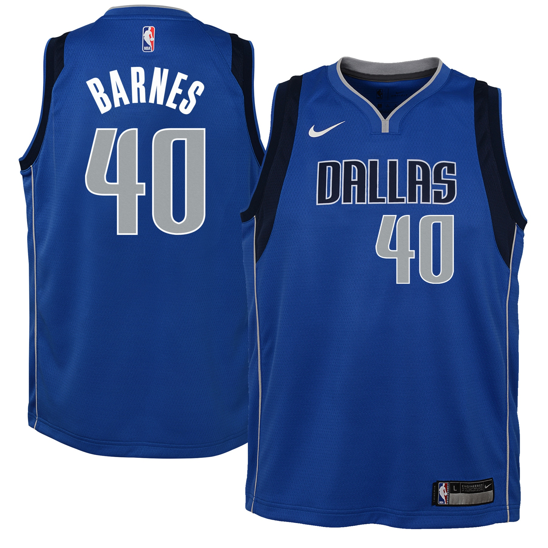 Harrison Barnes Dallas Mavericks Nike Youth Swingman Jersey Royal - Icon Edition