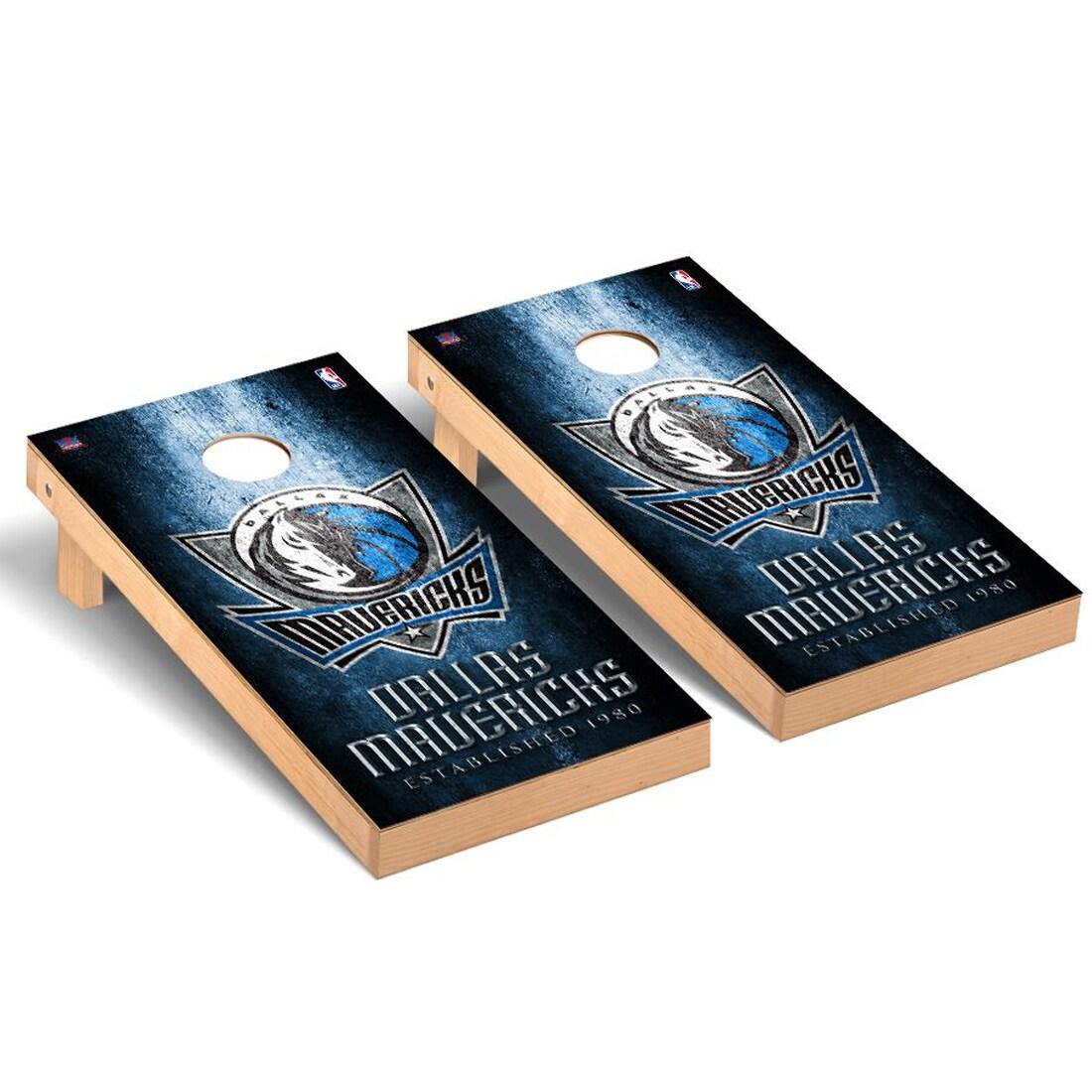 Dallas Mavericks 2' x 4' Metal Museum Cornhole Board Tailgate Toss Set