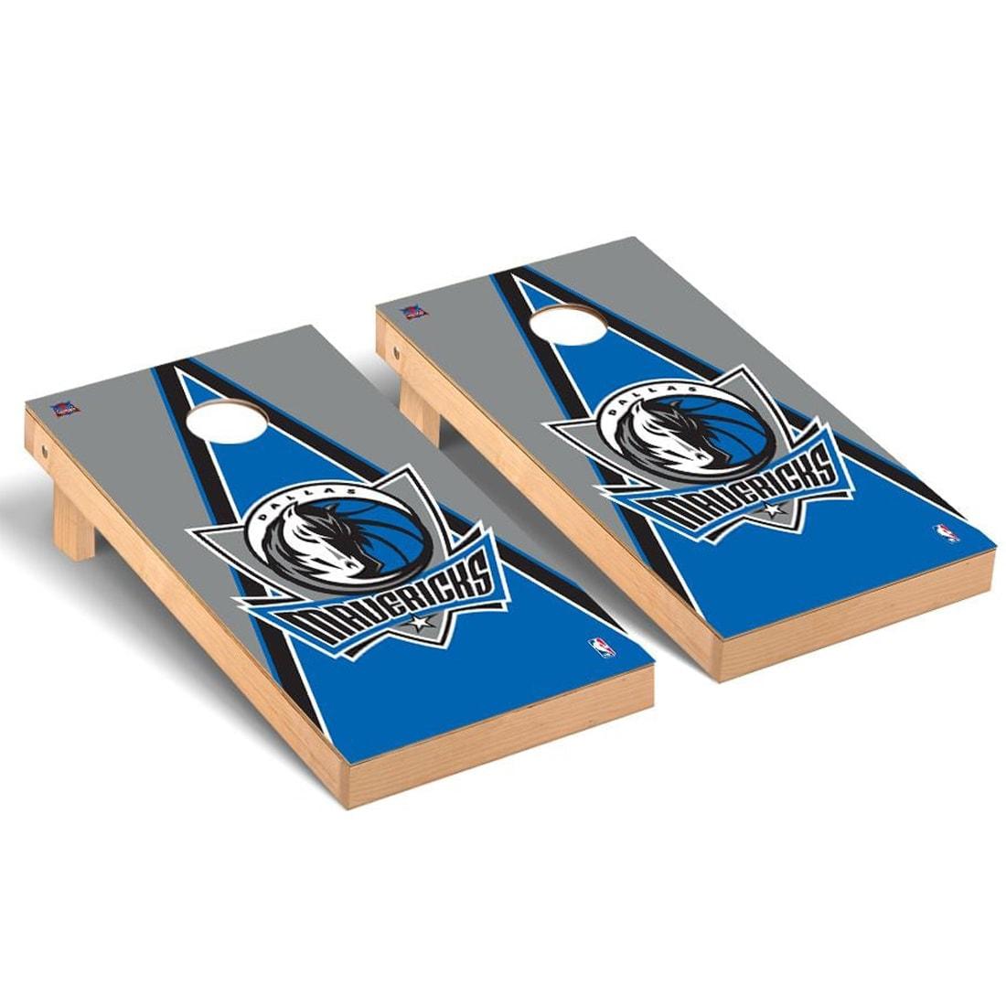 Dallas Mavericks 2' x 4' Triangle Museum Cornhole Board Tailgate Toss Set
