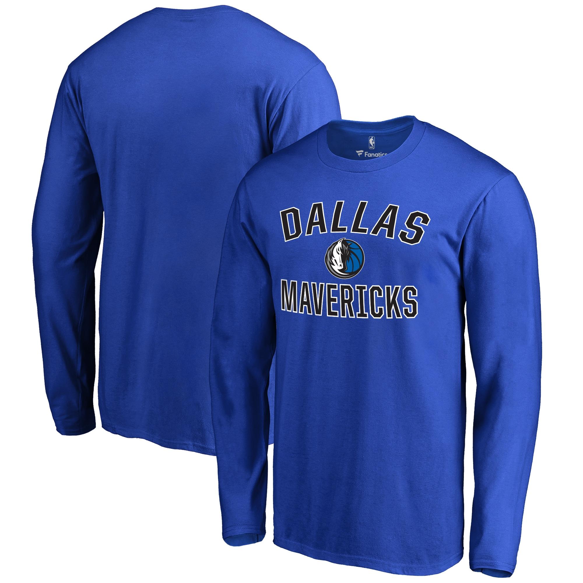 Dallas Mavericks Big & Tall Victory Arch Long Sleeve T-Shirt - Royal