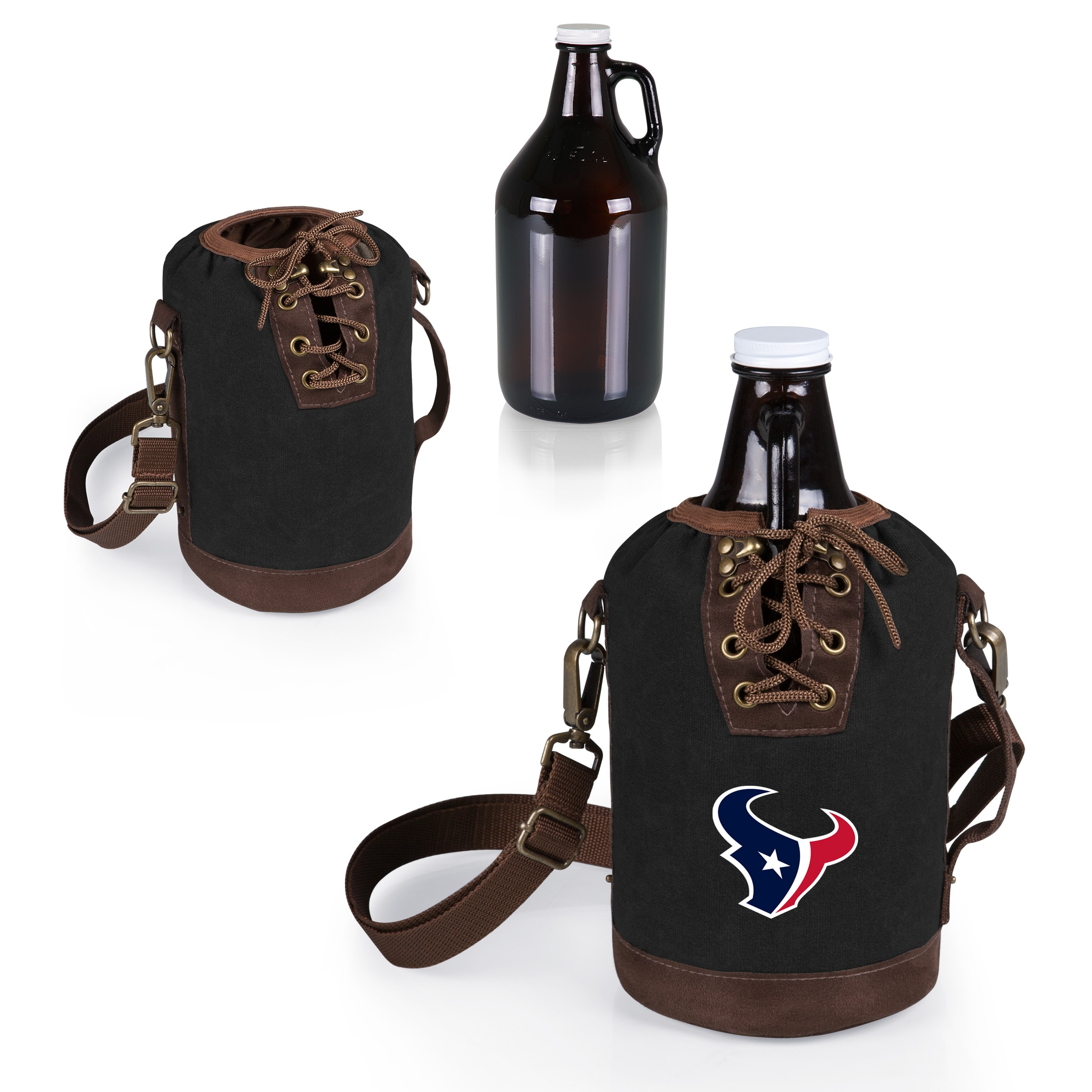 Houston Texans Growler Tote with 64oz. Growler - Black