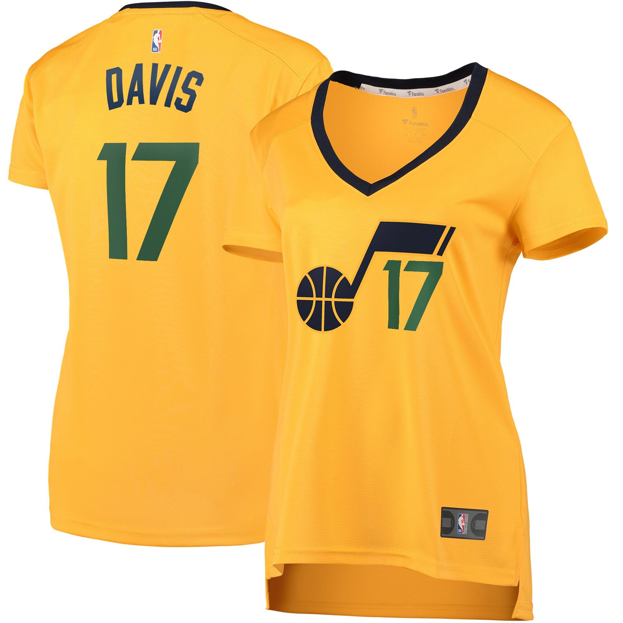 Ed Davis Utah Jazz Fanatics Branded Women's Fast Break Player Jersey - Statement Edition - Gold