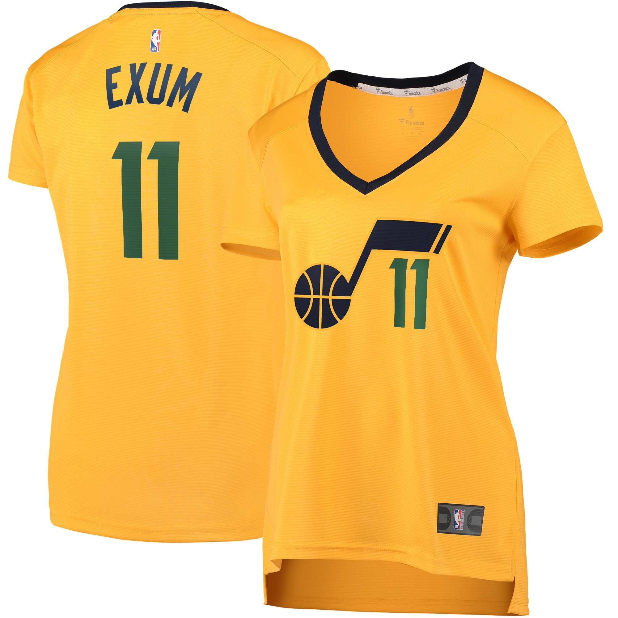 Dante Exum Utah Jazz Fanatics Branded Women's Fast Break Player Jersey - Statement Edition - Gold