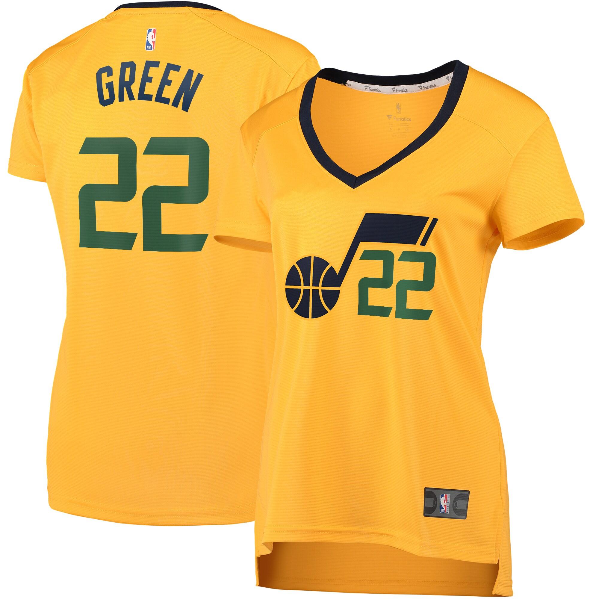 Jeff Green Utah Jazz Fanatics Branded Women's Fast Break Player Jersey - Statement Edition - Gold