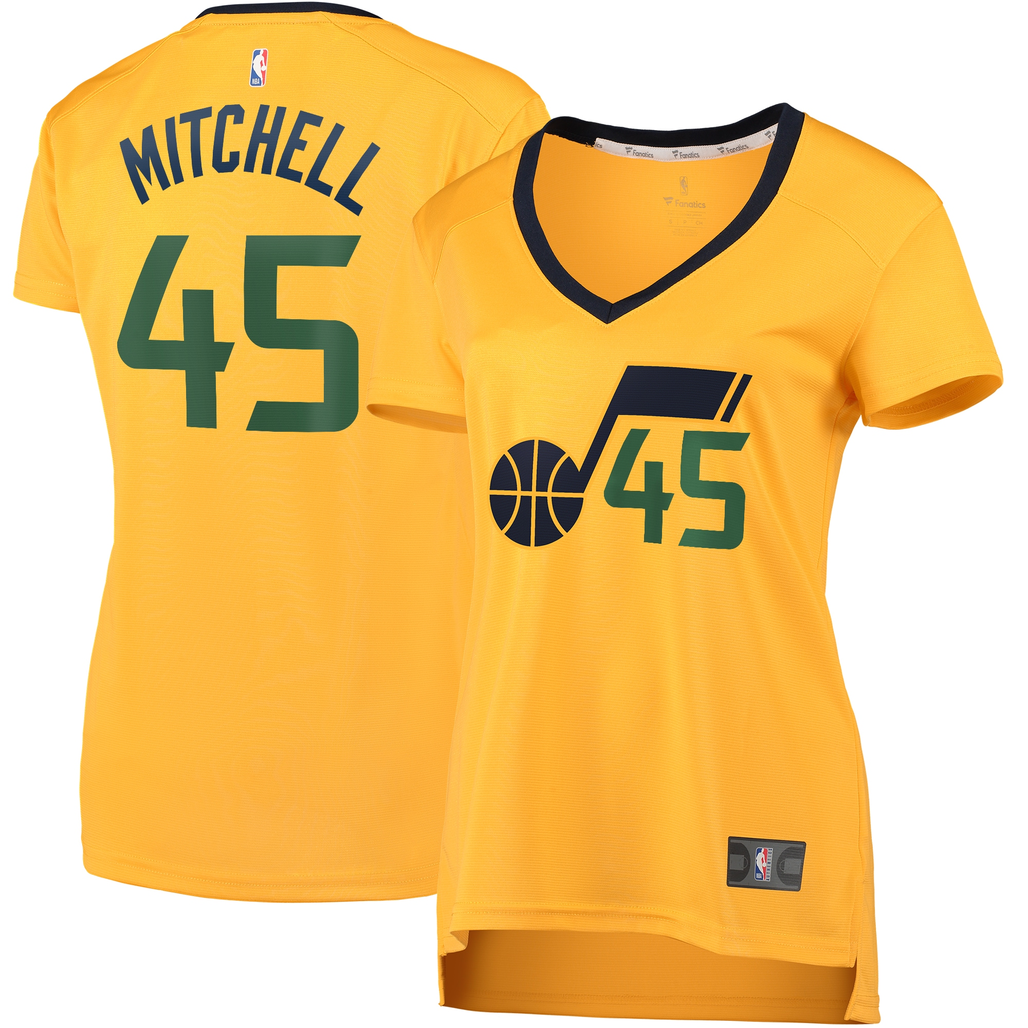 Donovan Mitchell Utah Jazz Fanatics Branded Women's Fast Break Player Jersey - Statement Edition - Gold