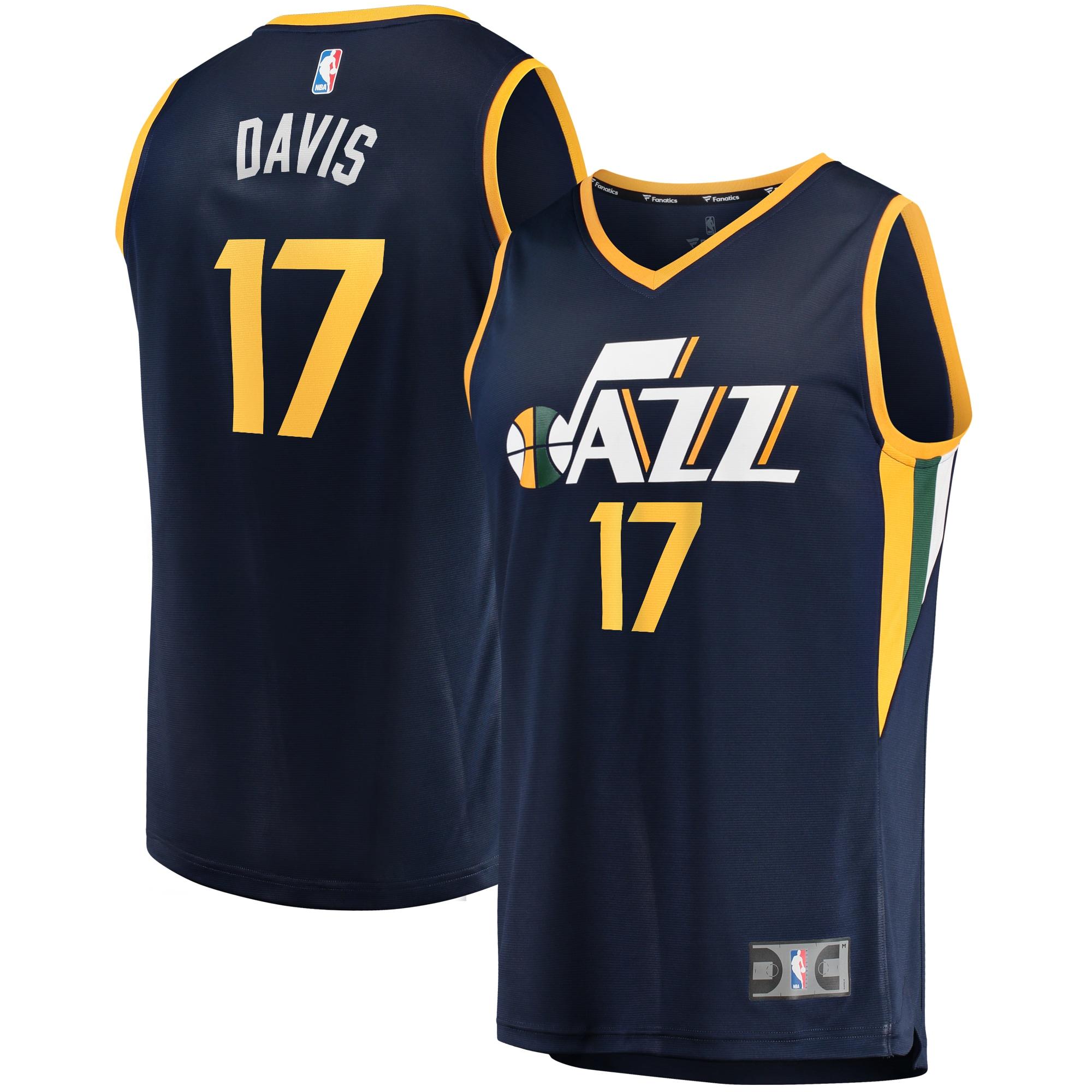 Ed Davis Utah Jazz Fanatics Branded Fast Break Player Jersey - Icon Edition - Navy