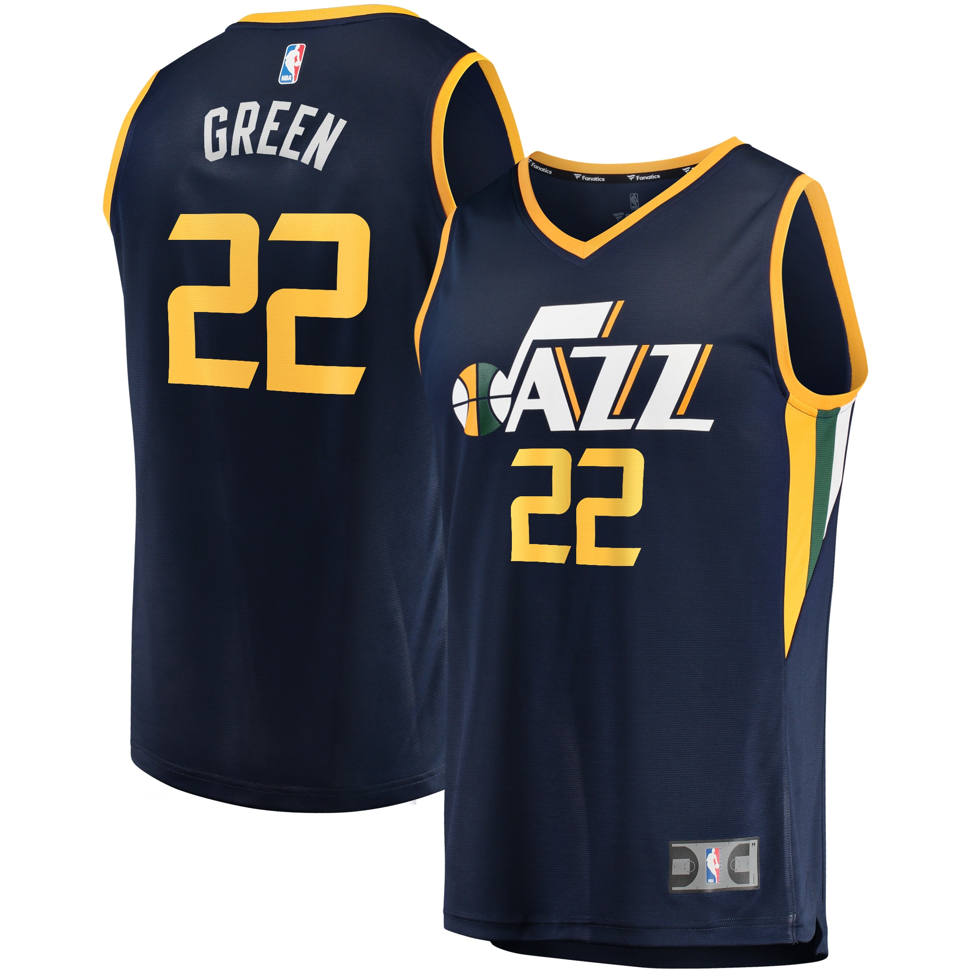 Jeff Green Utah Jazz Fanatics Branded Fast Break Player Jersey - Icon Edition - Navy