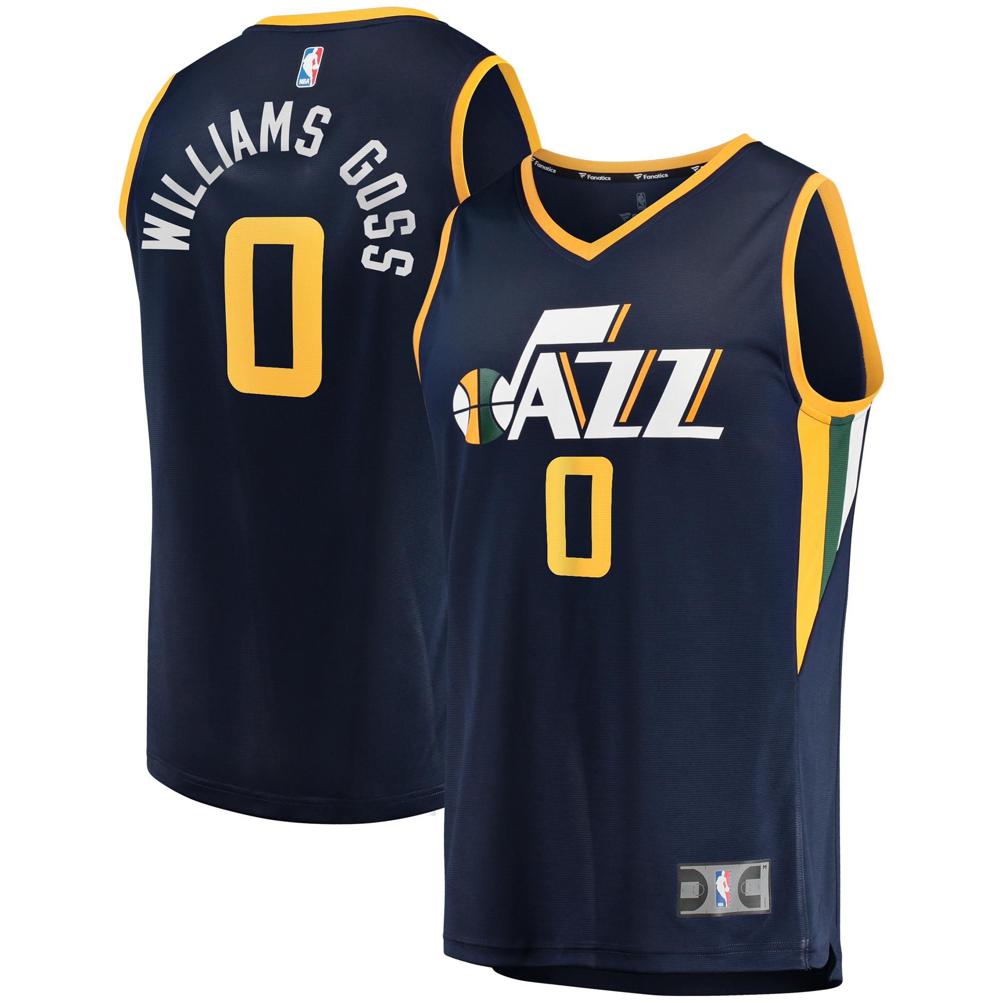 Nigel Williams-Goss Utah Jazz Fanatics Branded Fast Break Player Jersey - Icon Edition - Navy