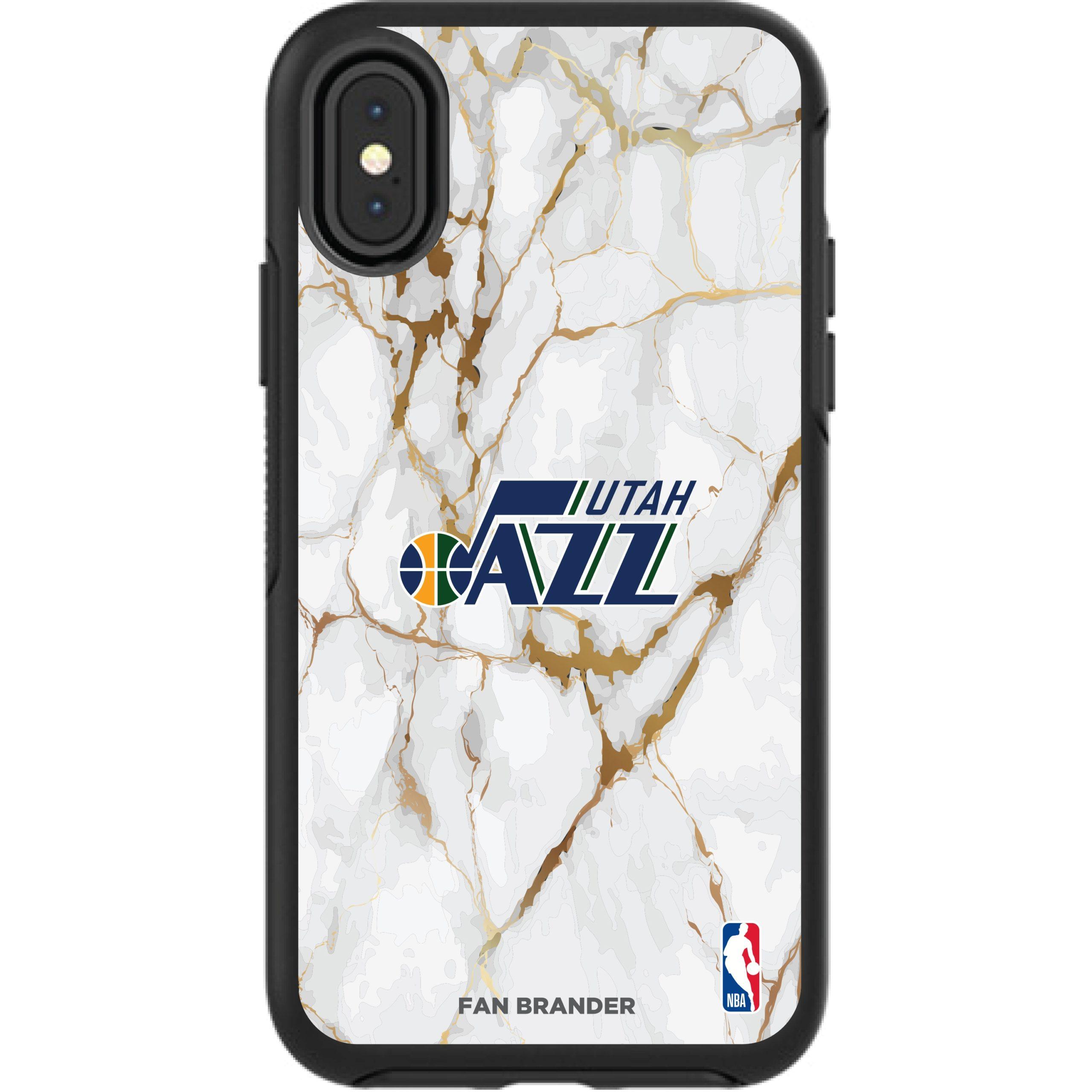 Utah Jazz iPhone Symmetry Marble Case - Black