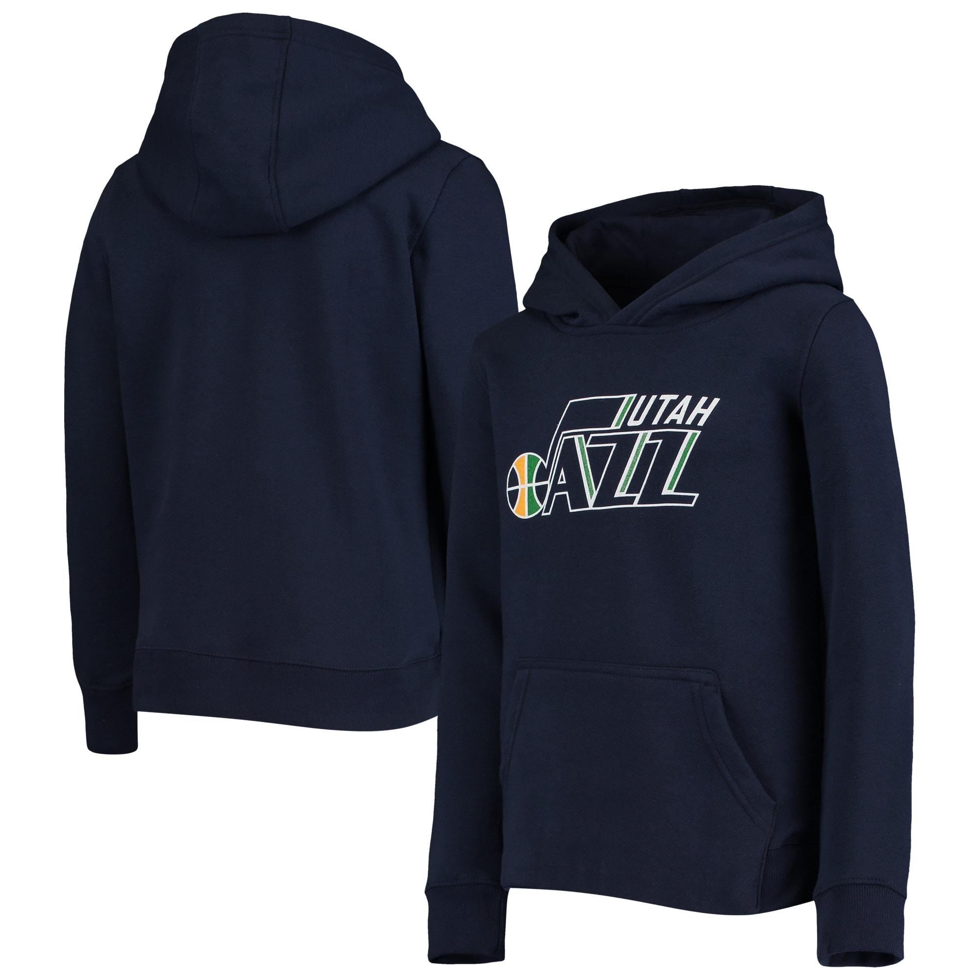 Utah Jazz Youth Primary Logo Fleece Pullover Hoodie - Navy