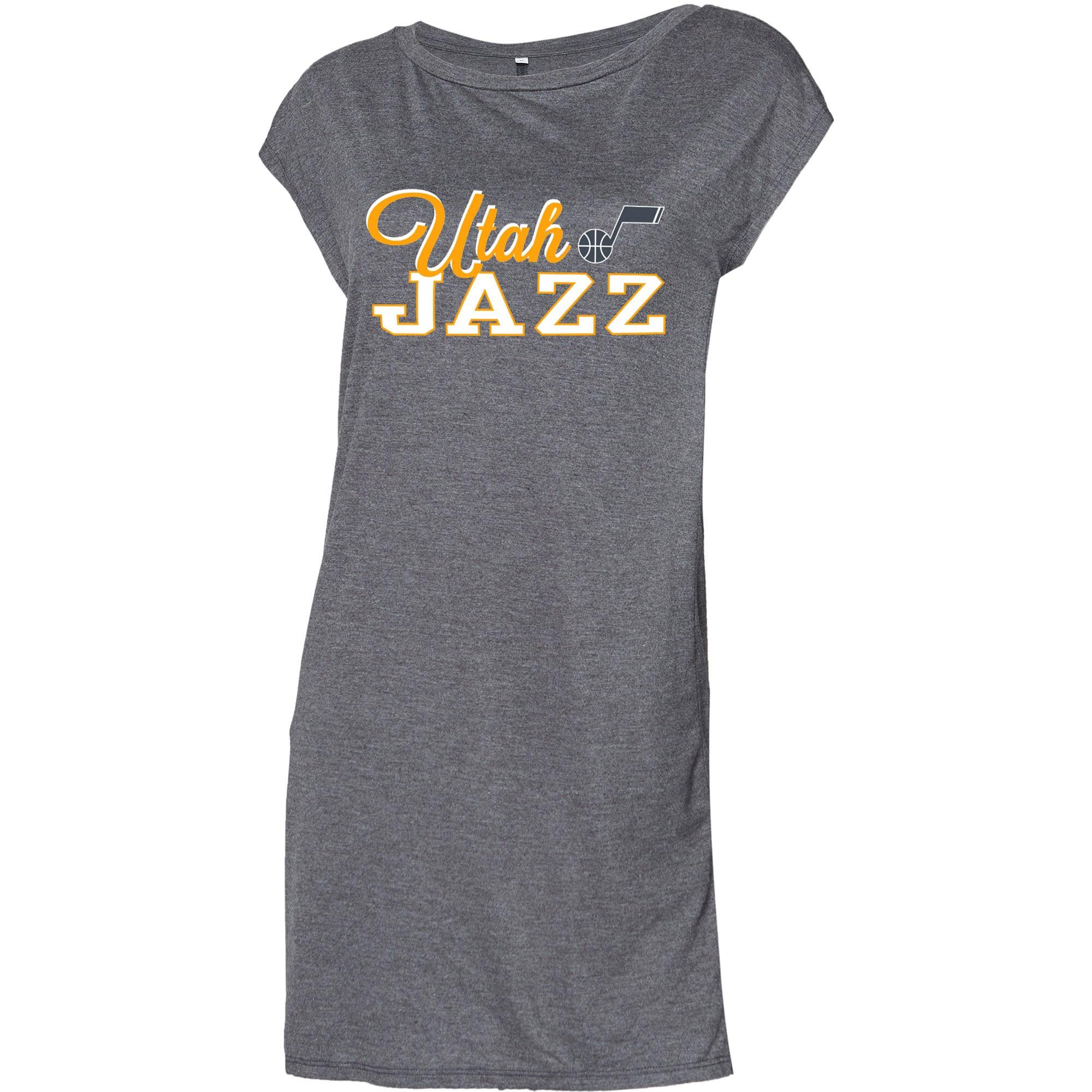 Utah Jazz Concepts Sport Women's Cascade Nightshirt - Heathered Charcoal