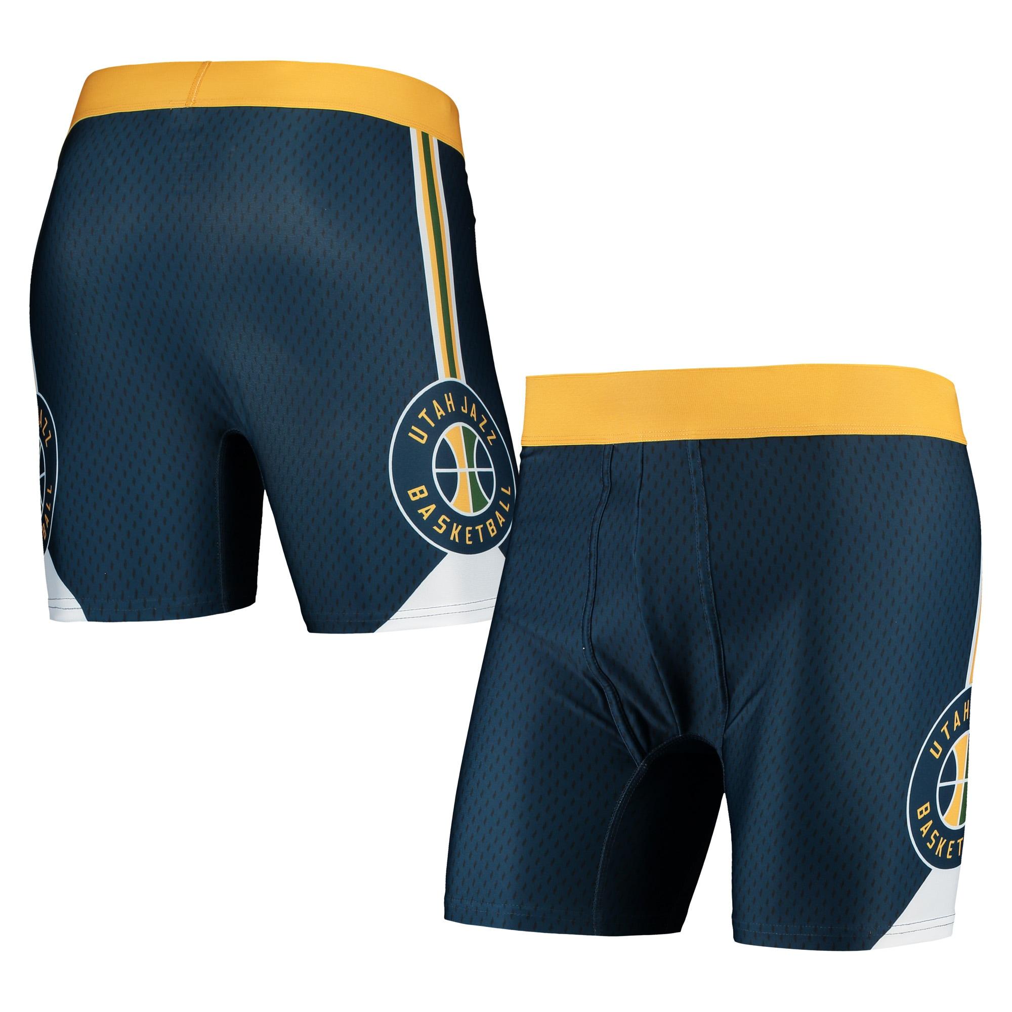 Utah Jazz Concepts Sport Flyaway Swingman Boxer Briefs - Navy