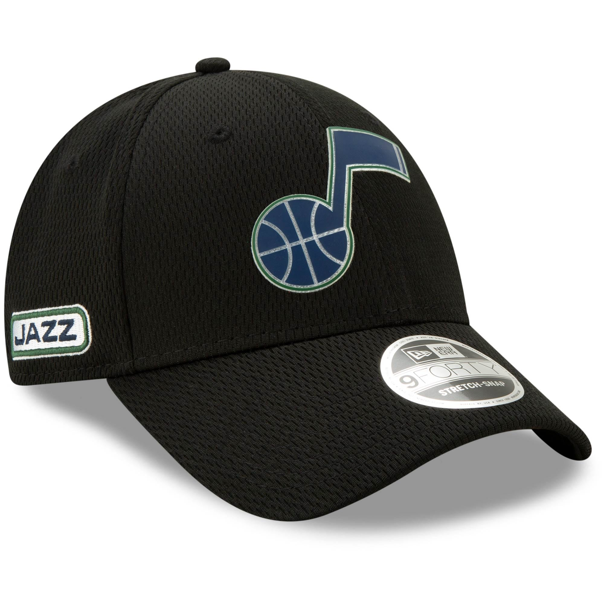 Utah Jazz New Era Official Back Half 9FORTY Adjustable Hat - Black