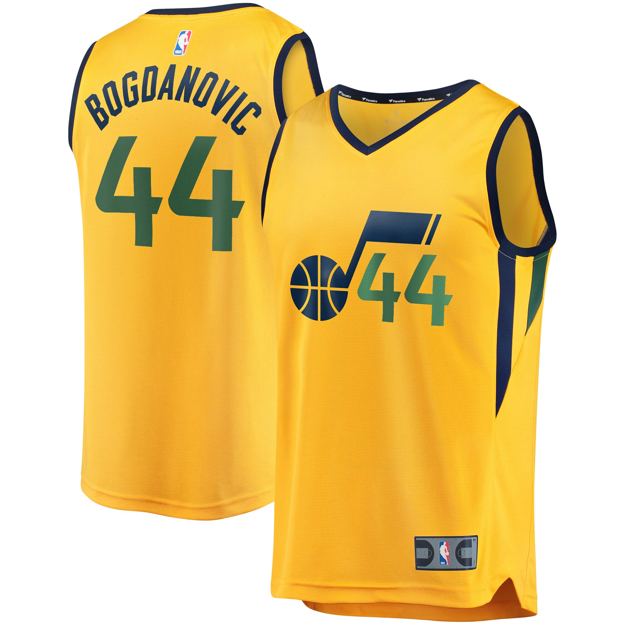 Bojan Bogdanovic Utah Jazz Fanatics Branded Youth Fast Break Replica Jersey Gold - Statement Edition