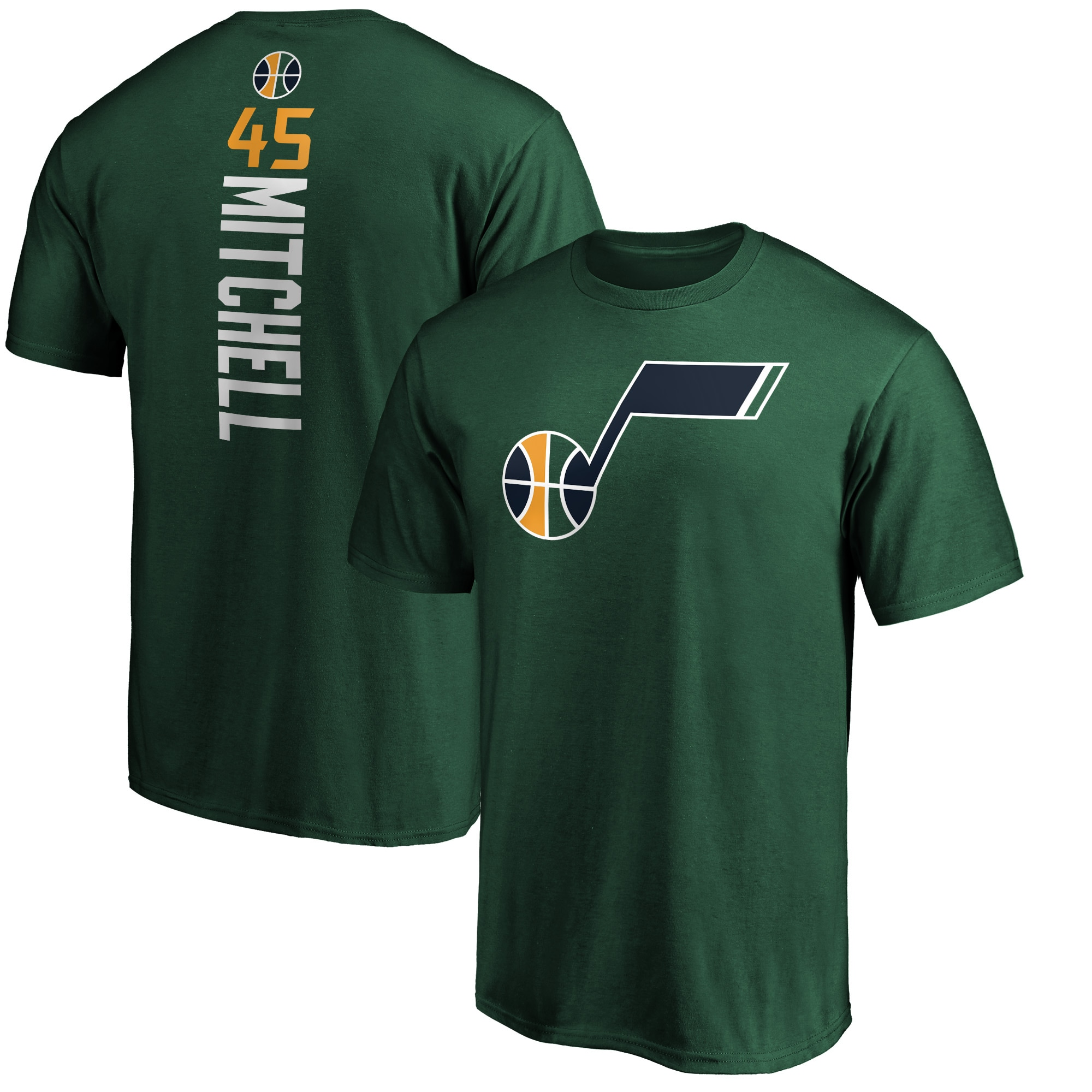 Donovan Mitchell Utah Jazz Fanatics Branded Playmaker Name & Number Team T-Shirt - Green