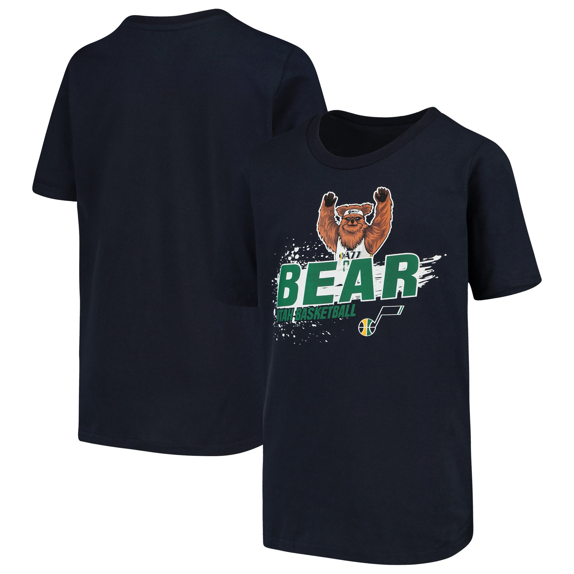 Utah Jazz Youth Mascot Ice Break T-Shirt - Navy