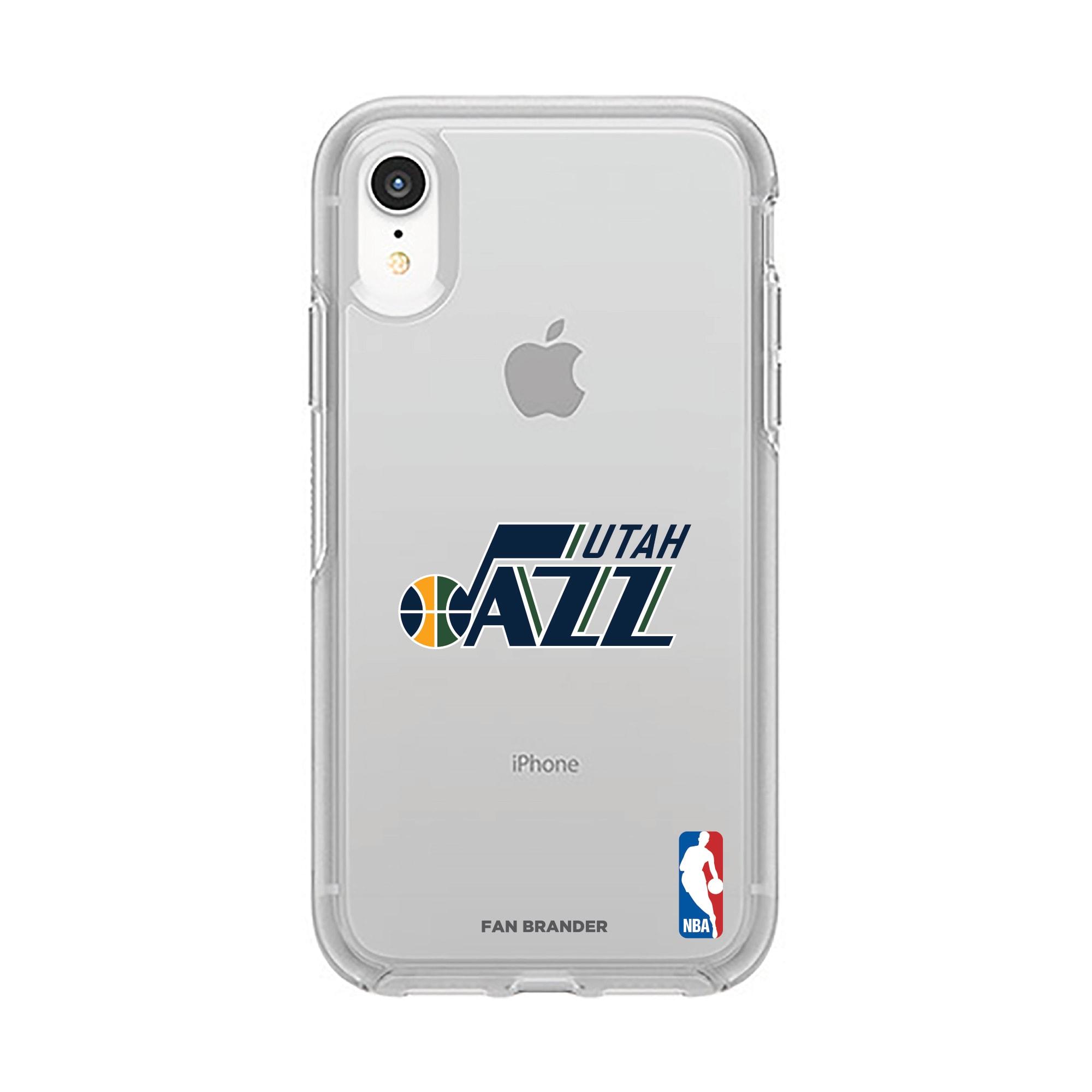 Utah Jazz OtterBox Clear Primary Logo iPhone Case